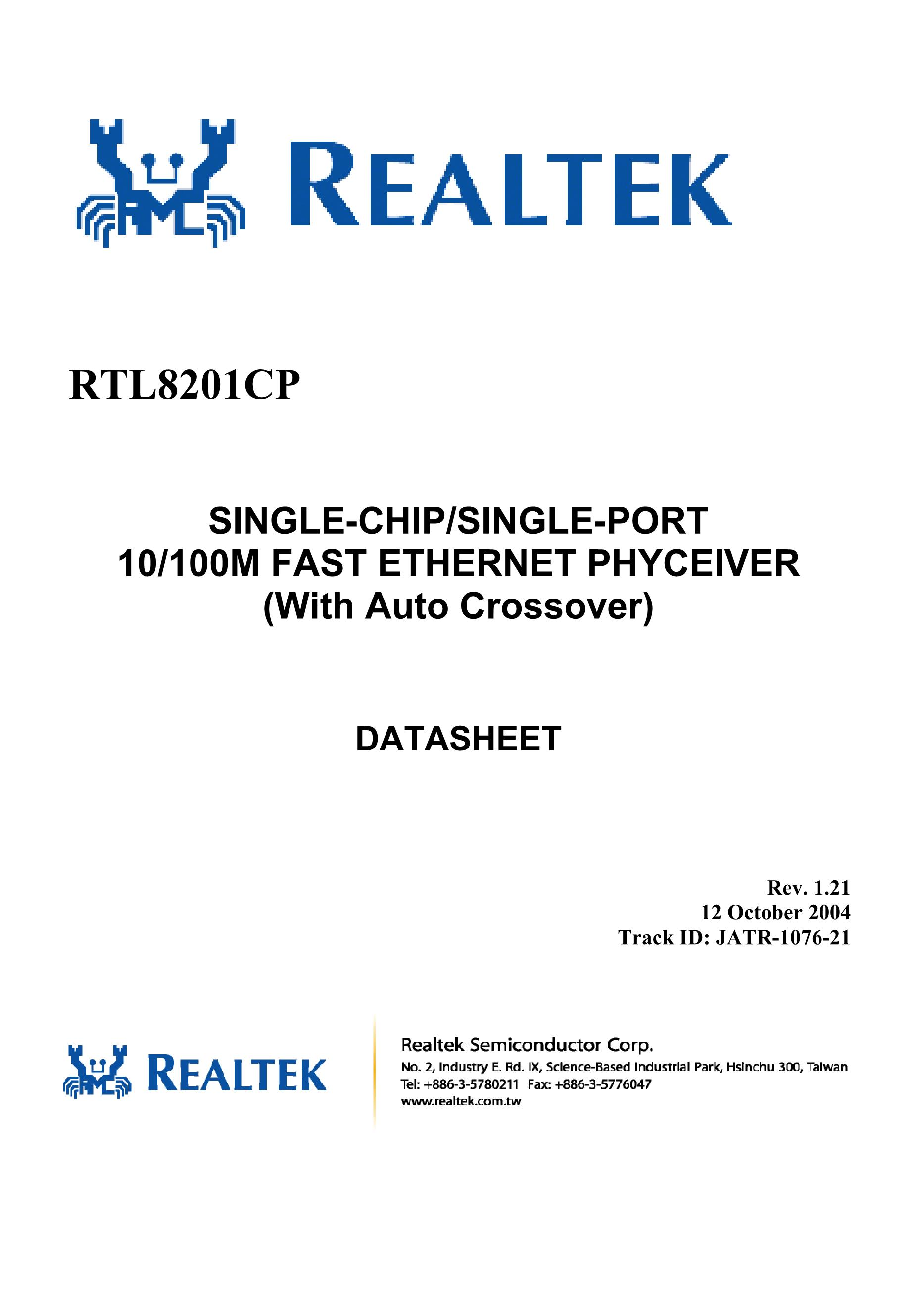 RTL8029AS's pdf picture 1