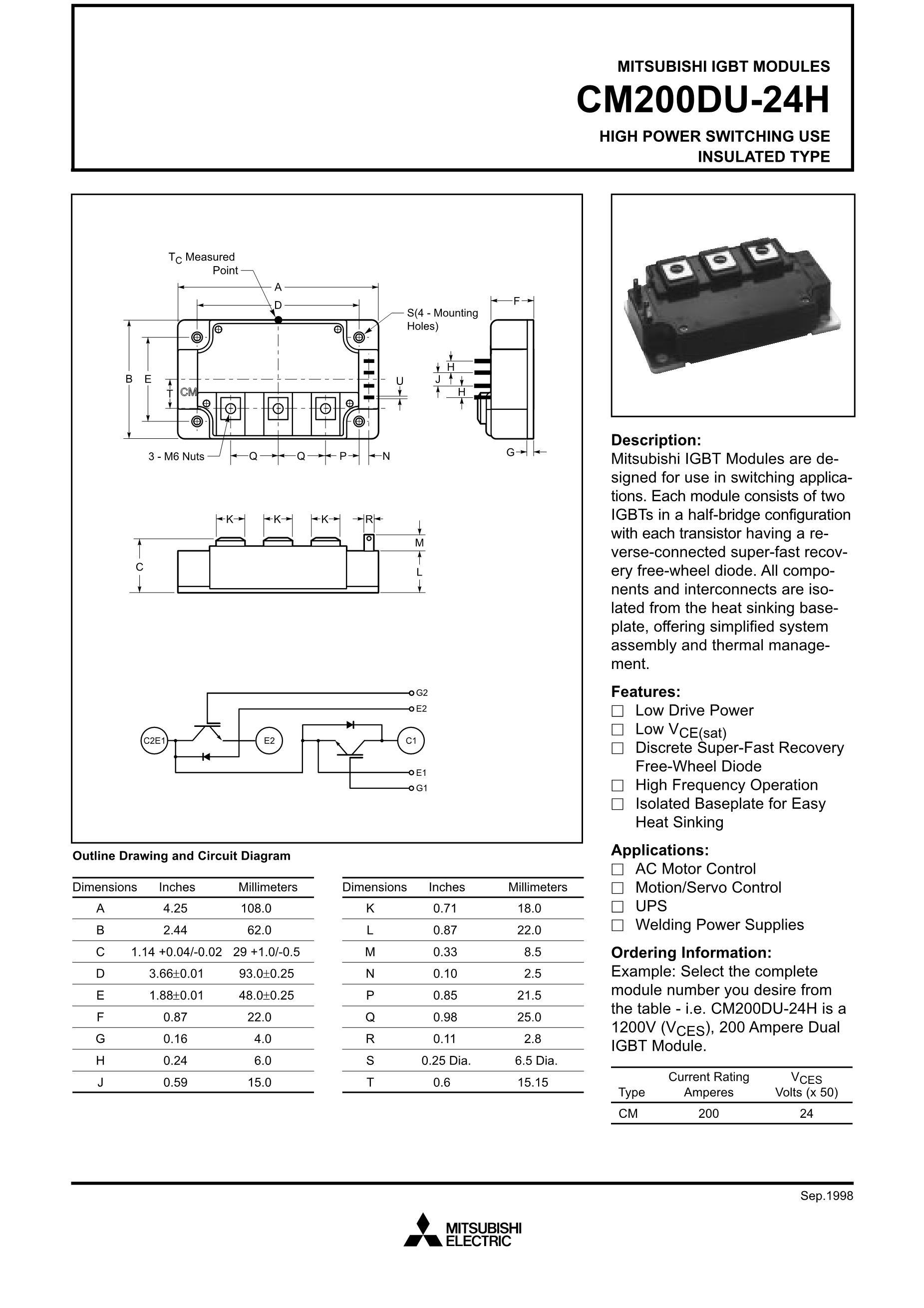 CM200RX-12A's pdf picture 1