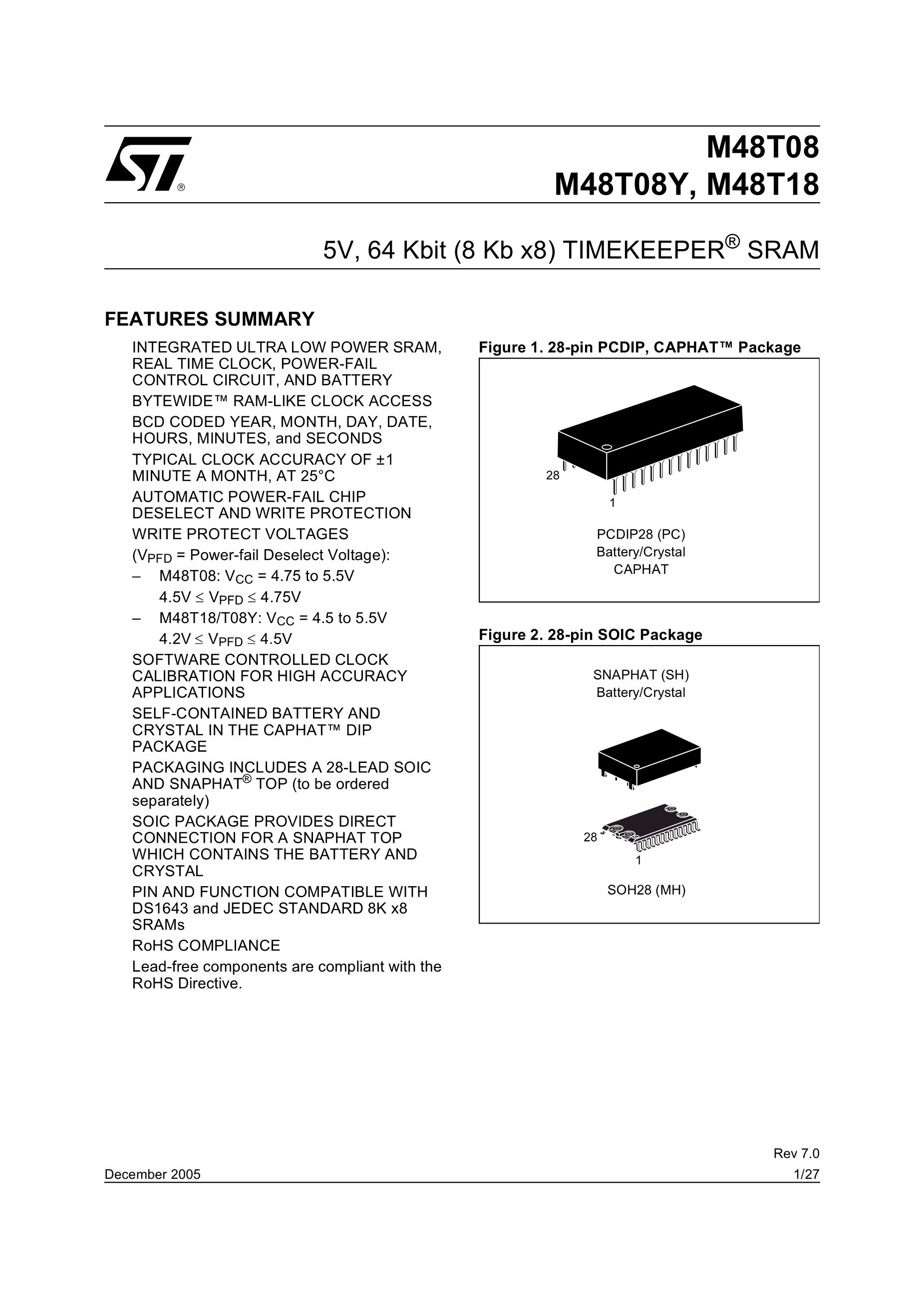 M48T08B-15's pdf picture 1