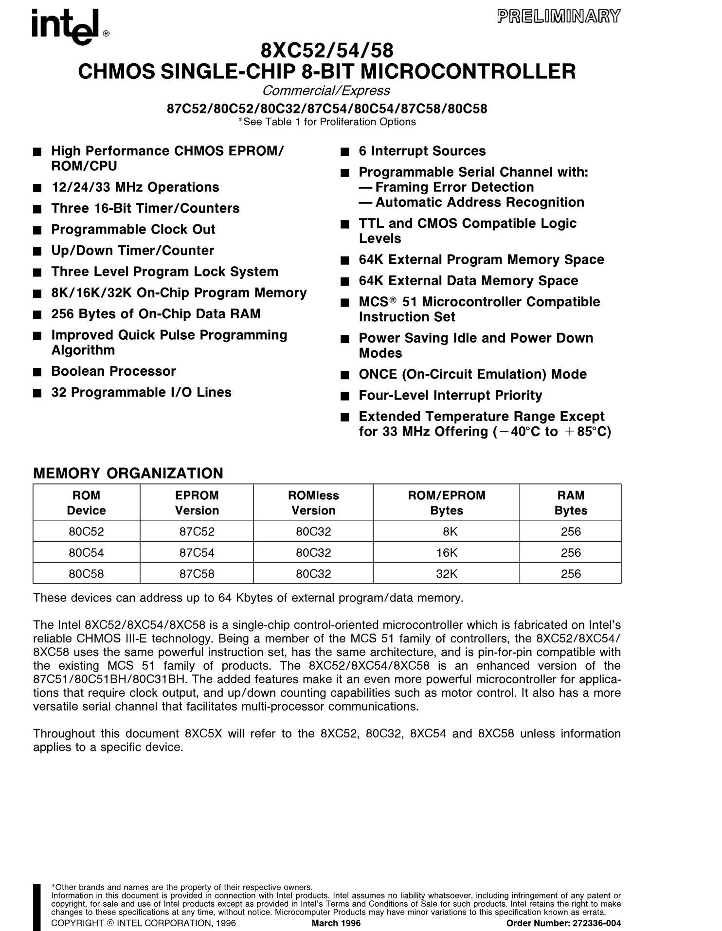 P80C652's pdf picture 1