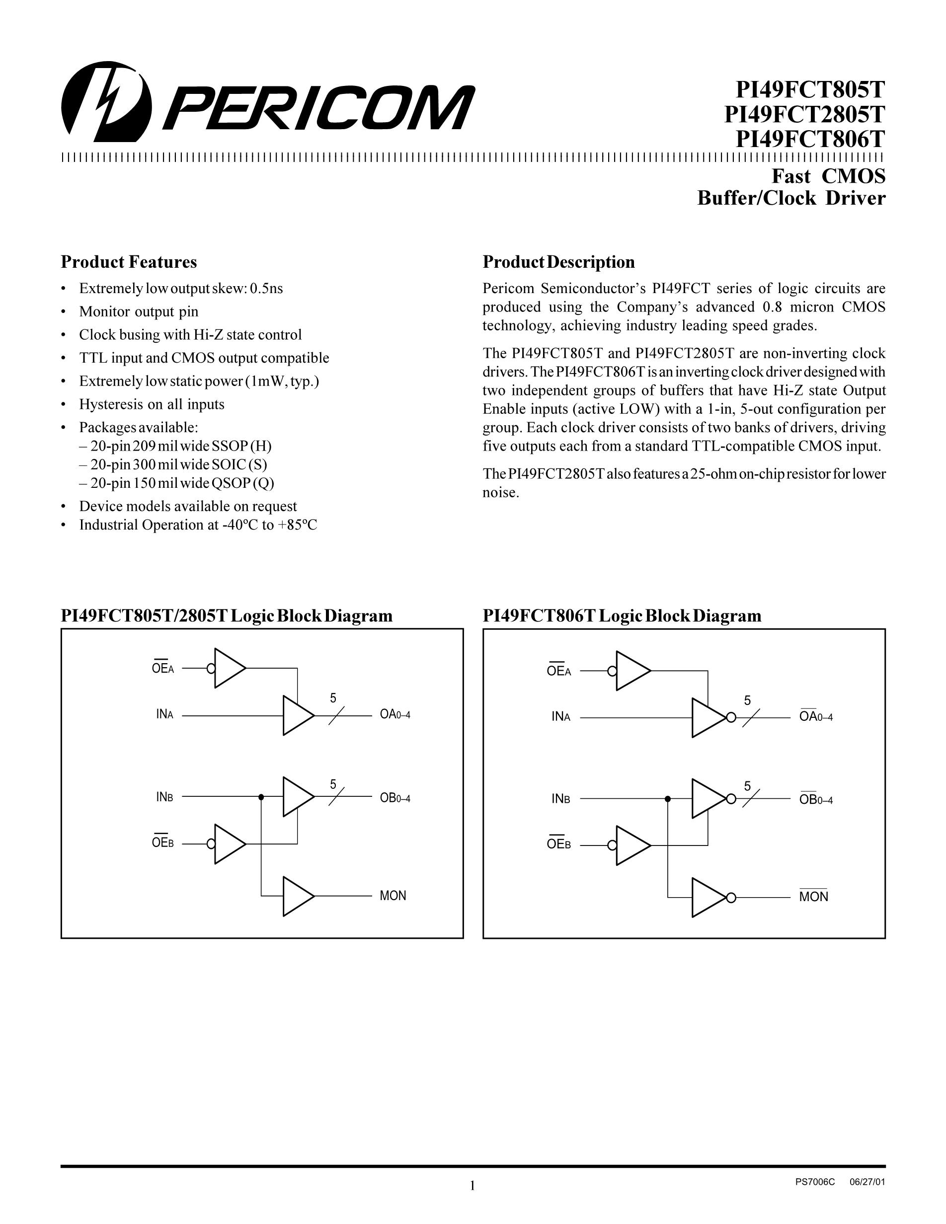 PI49FCT38072CQEX's pdf picture 1