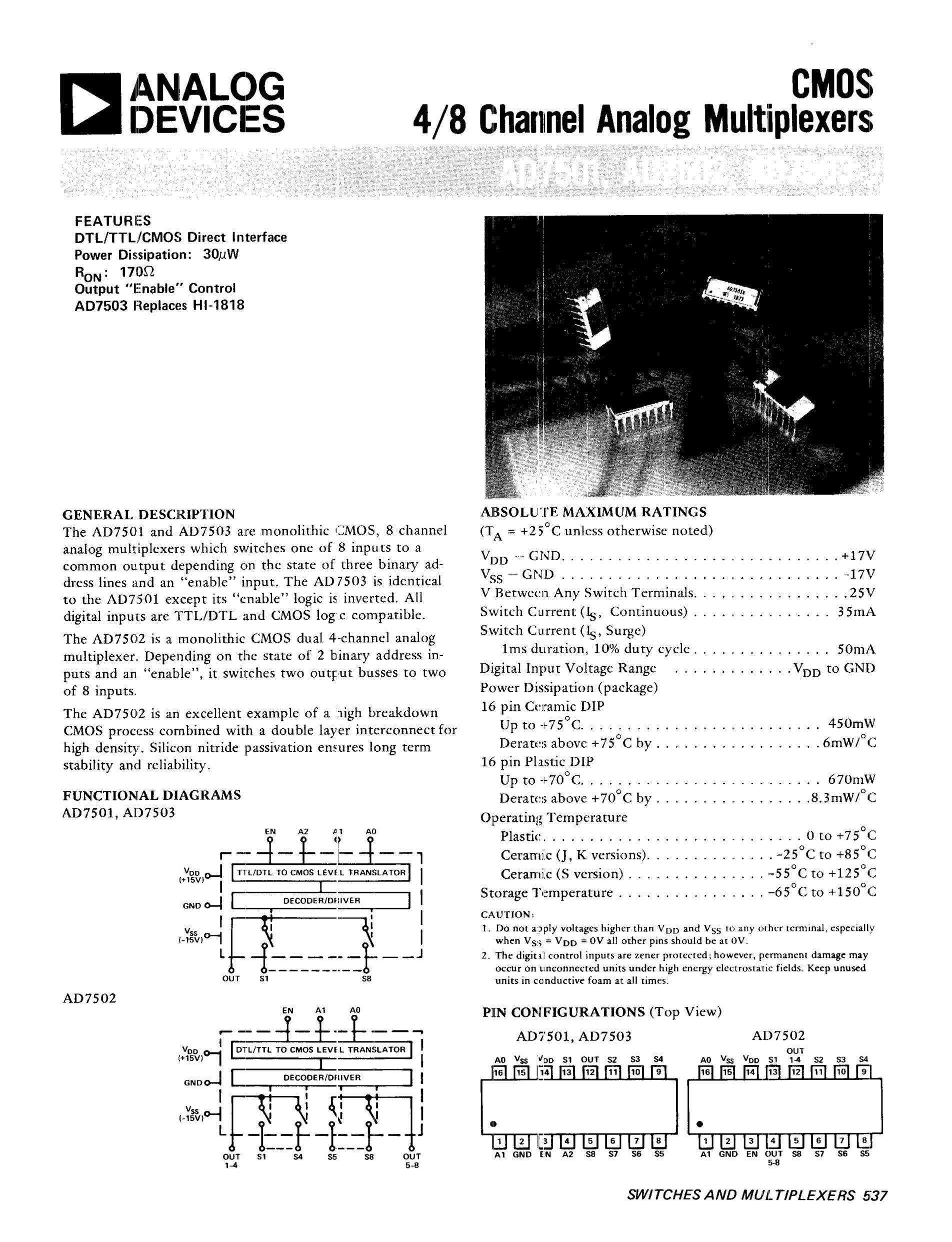 AD7506JQ's pdf picture 1