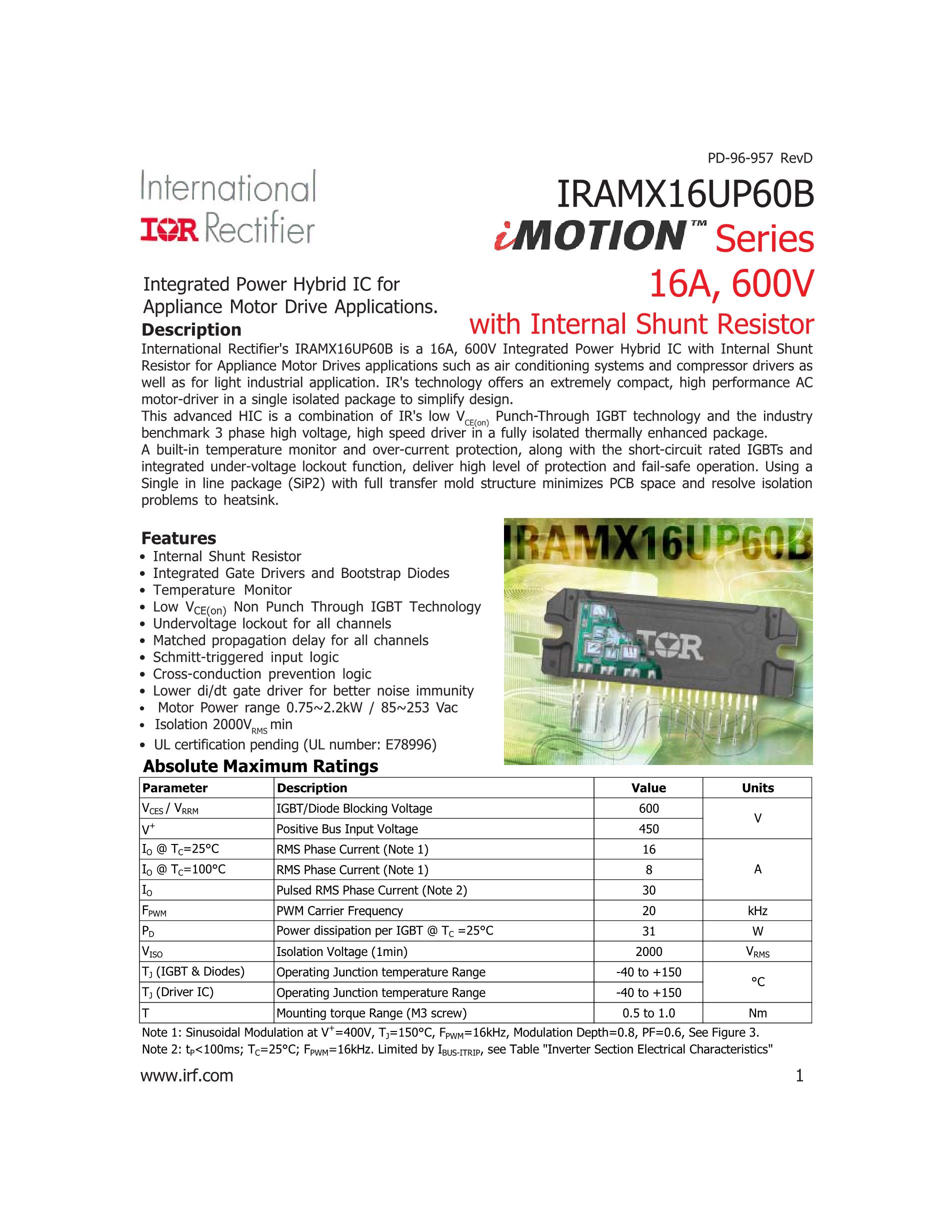 IRAMX16UP60A's pdf picture 1