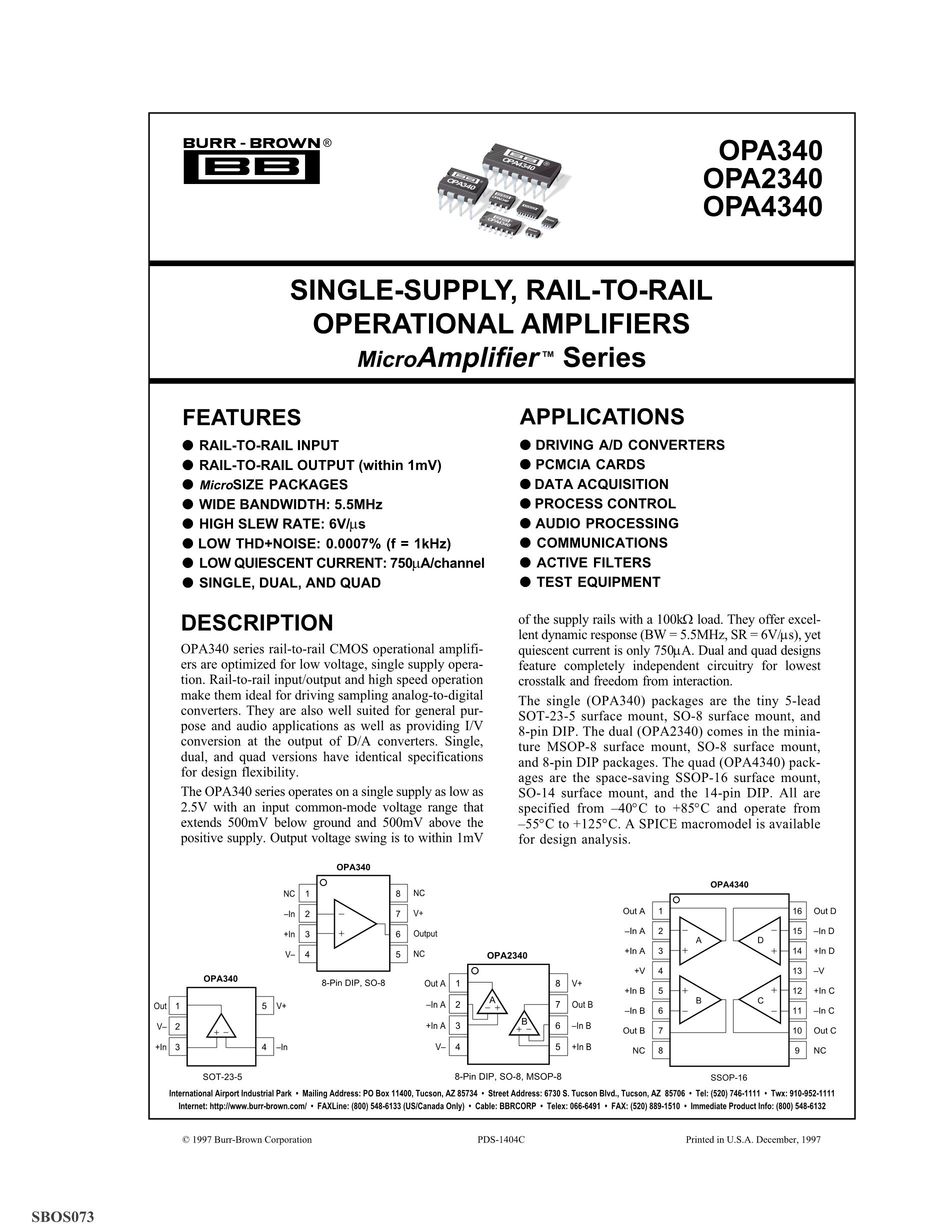 OPA349UA/2K5G4's pdf picture 1