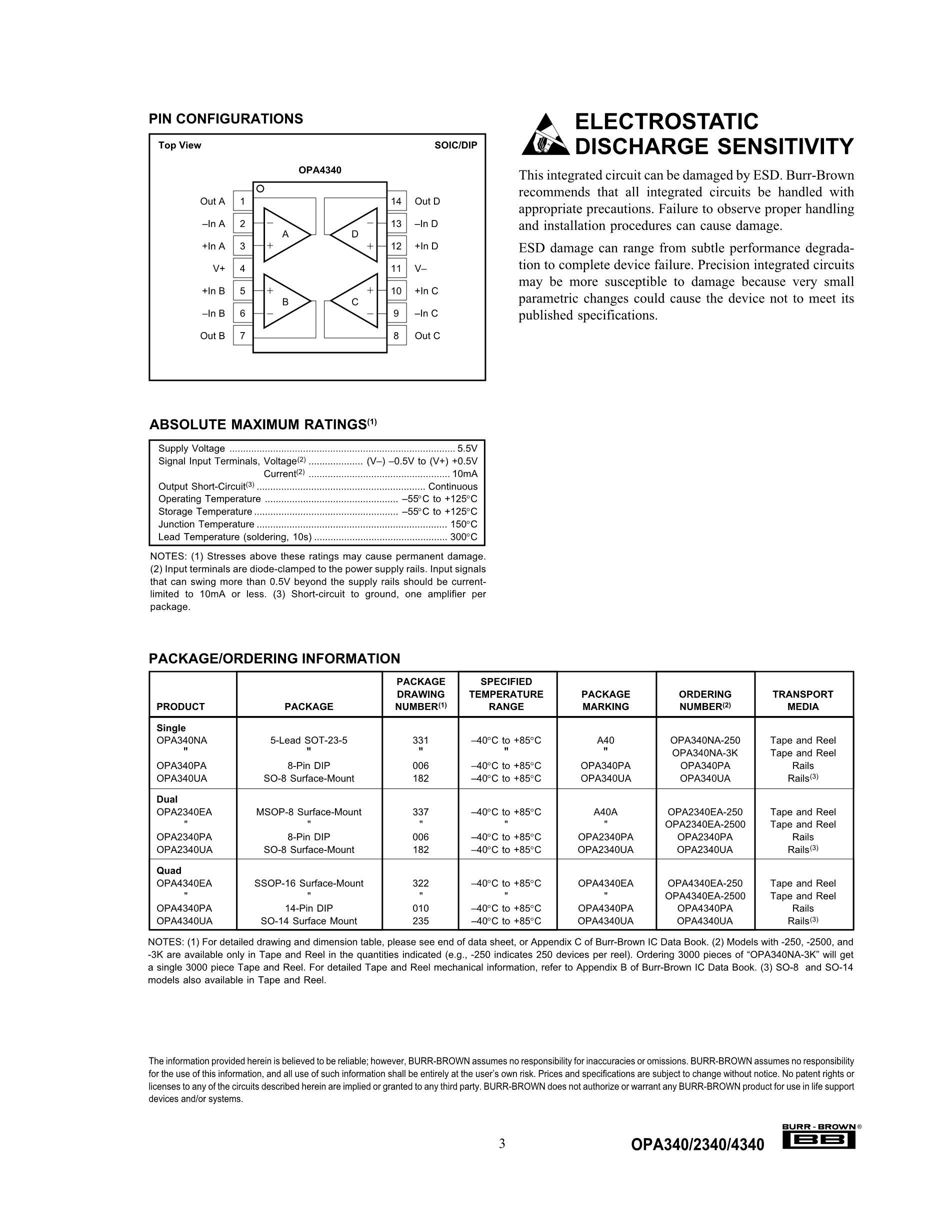 OPA3692IDRG4's pdf picture 3