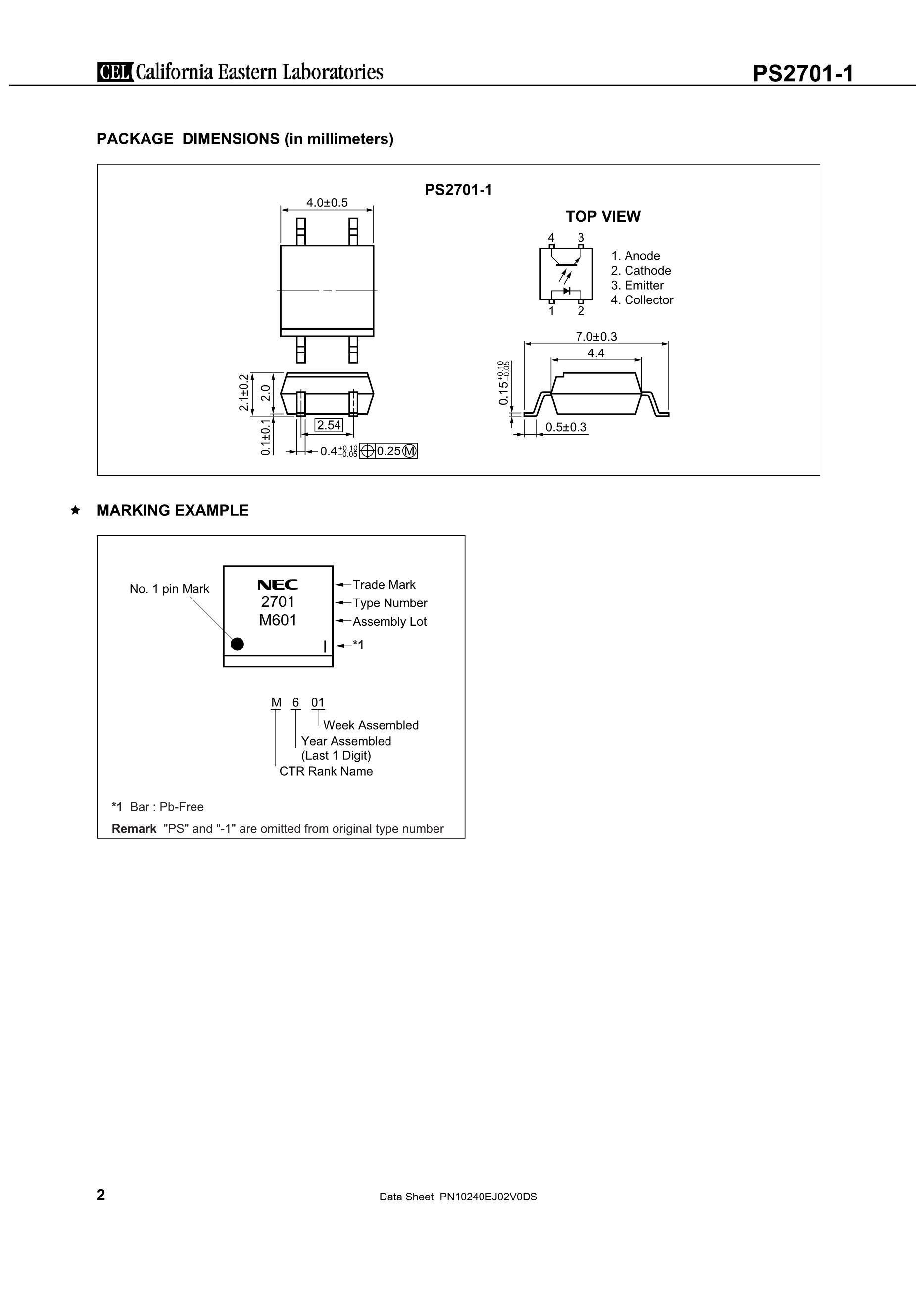 PS2701A-1M-V-F3-A's pdf picture 2