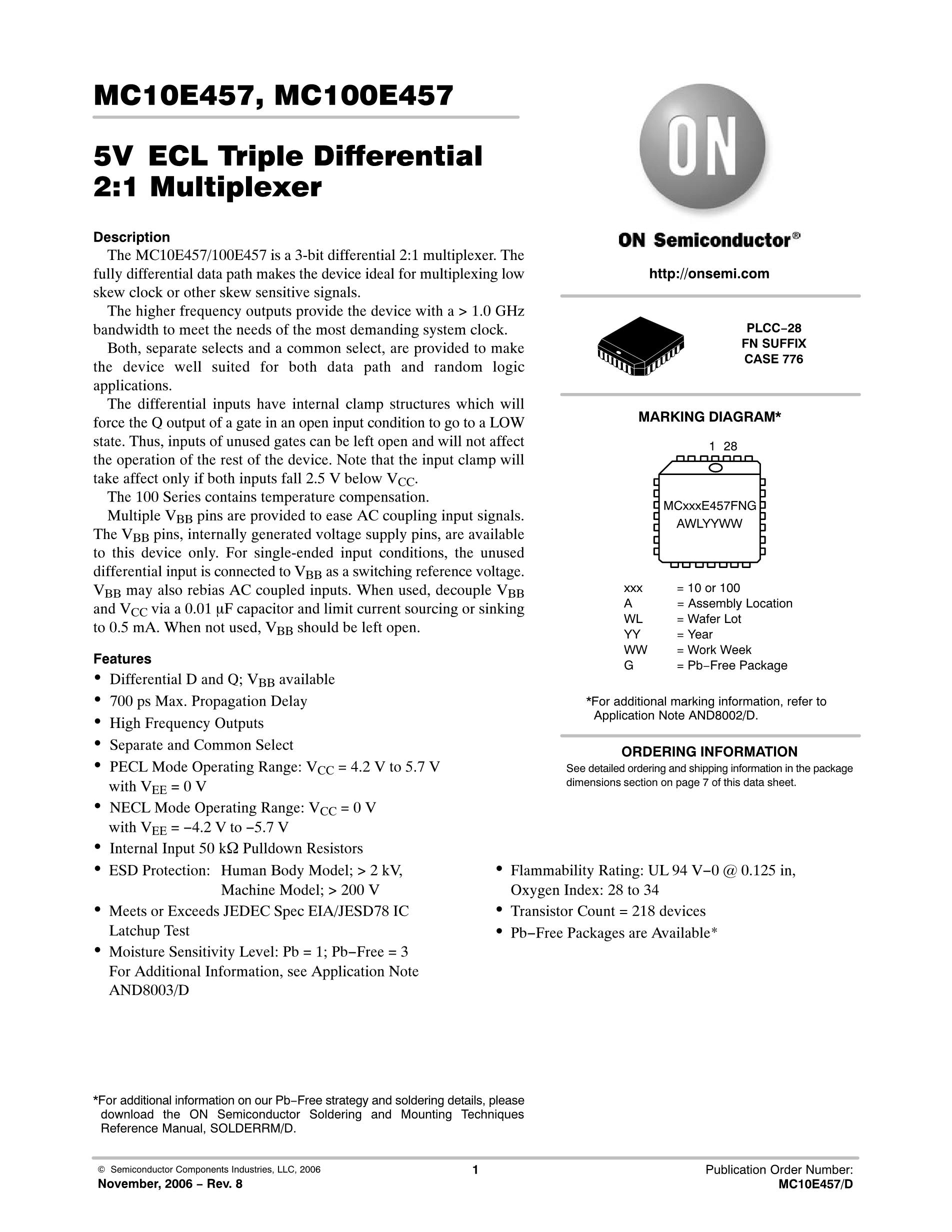MC10EP31DR2G's pdf picture 1