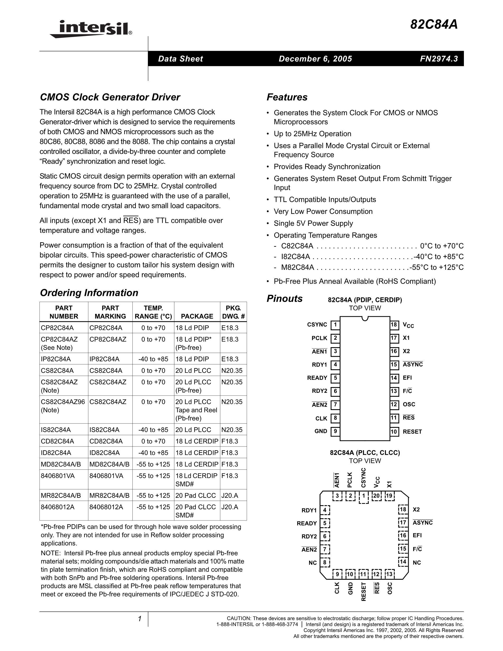 CP82C55A-5's pdf picture 1