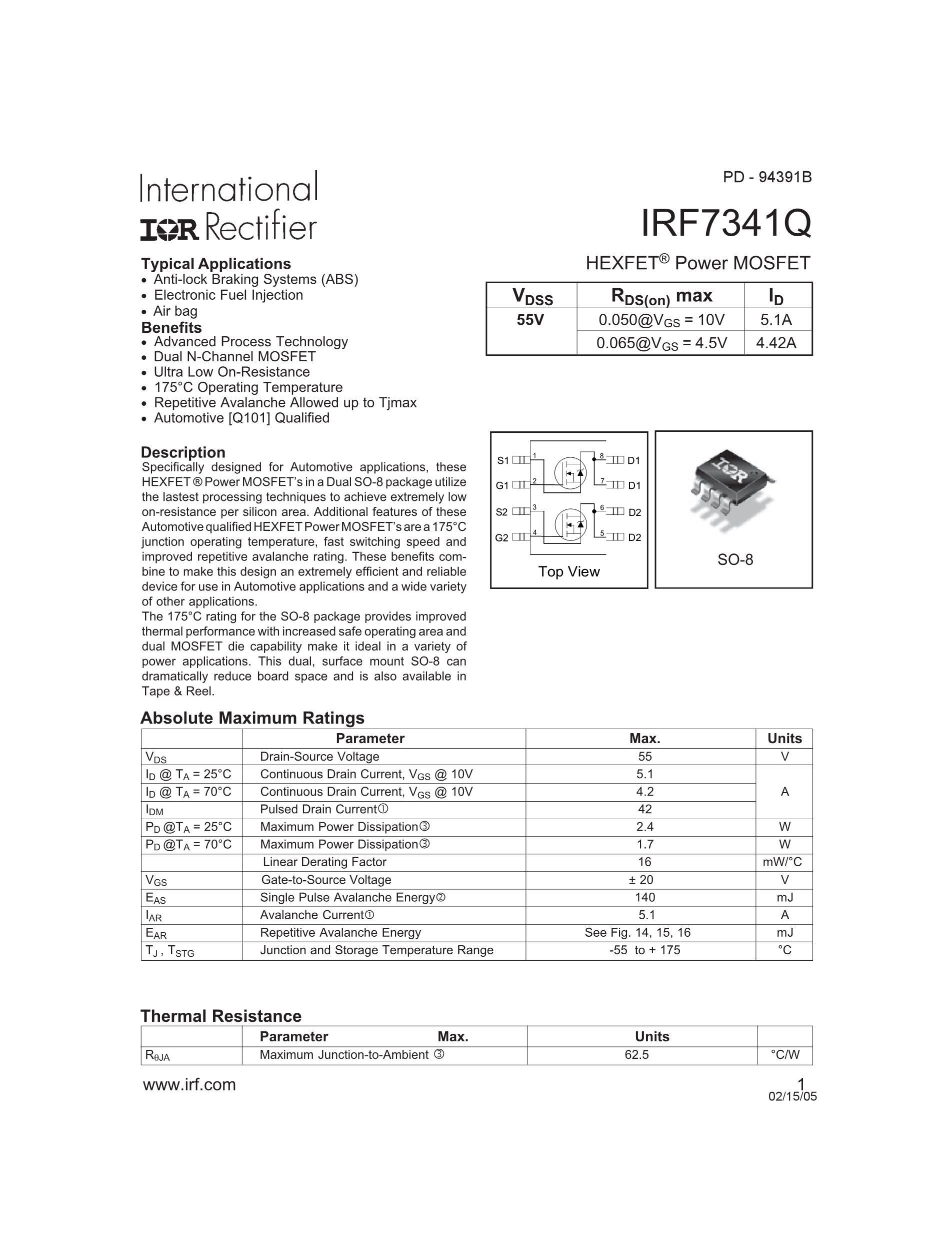 IRF7404TR's pdf picture 1