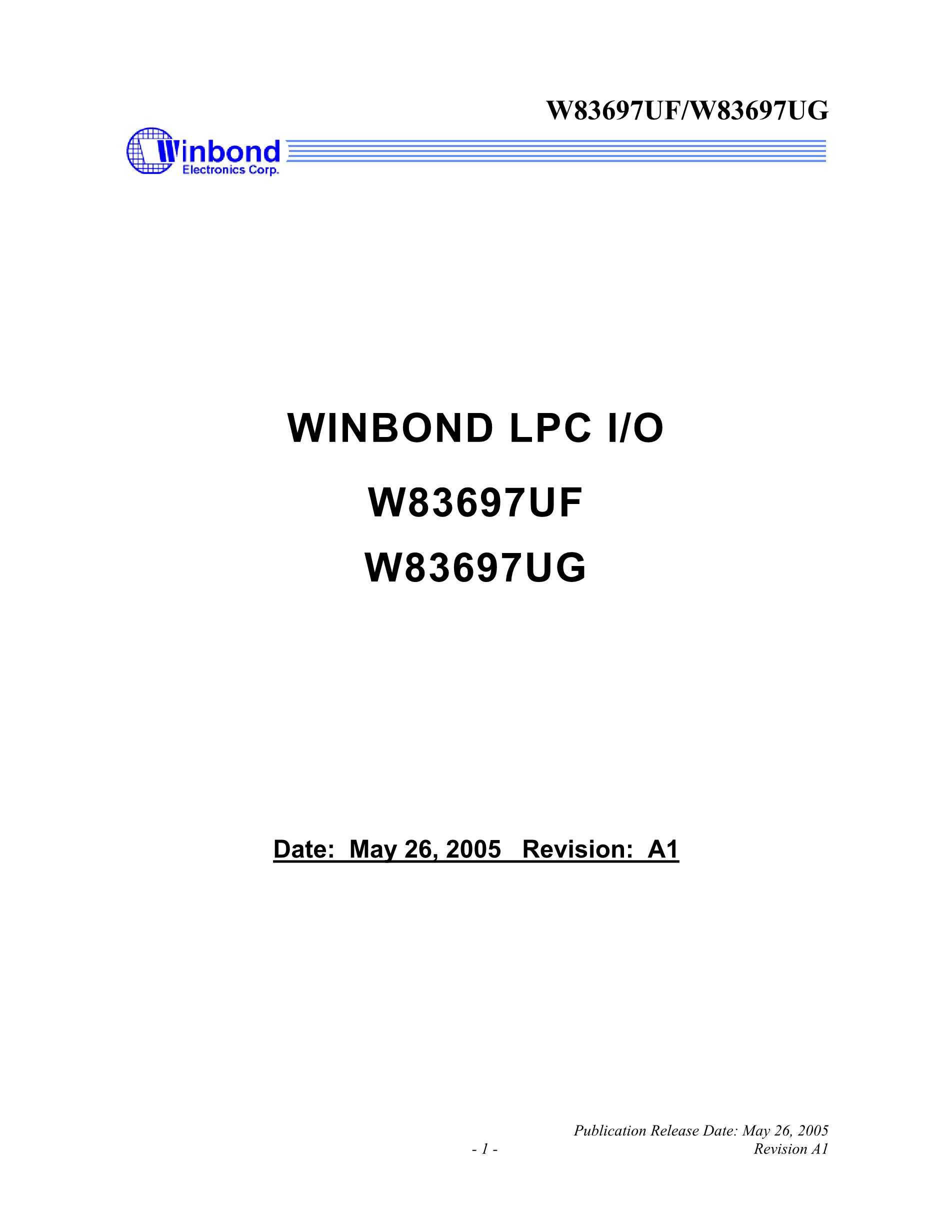 W83627SG-AW's pdf picture 1