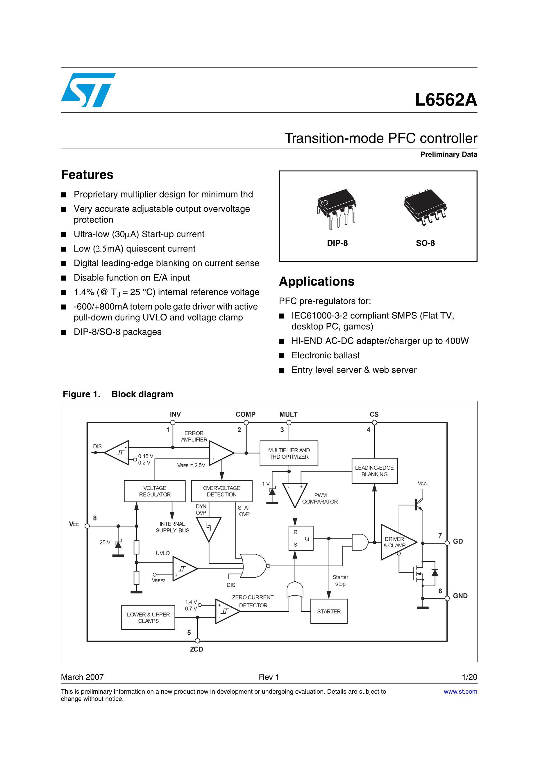 L6563STR's pdf picture 1
