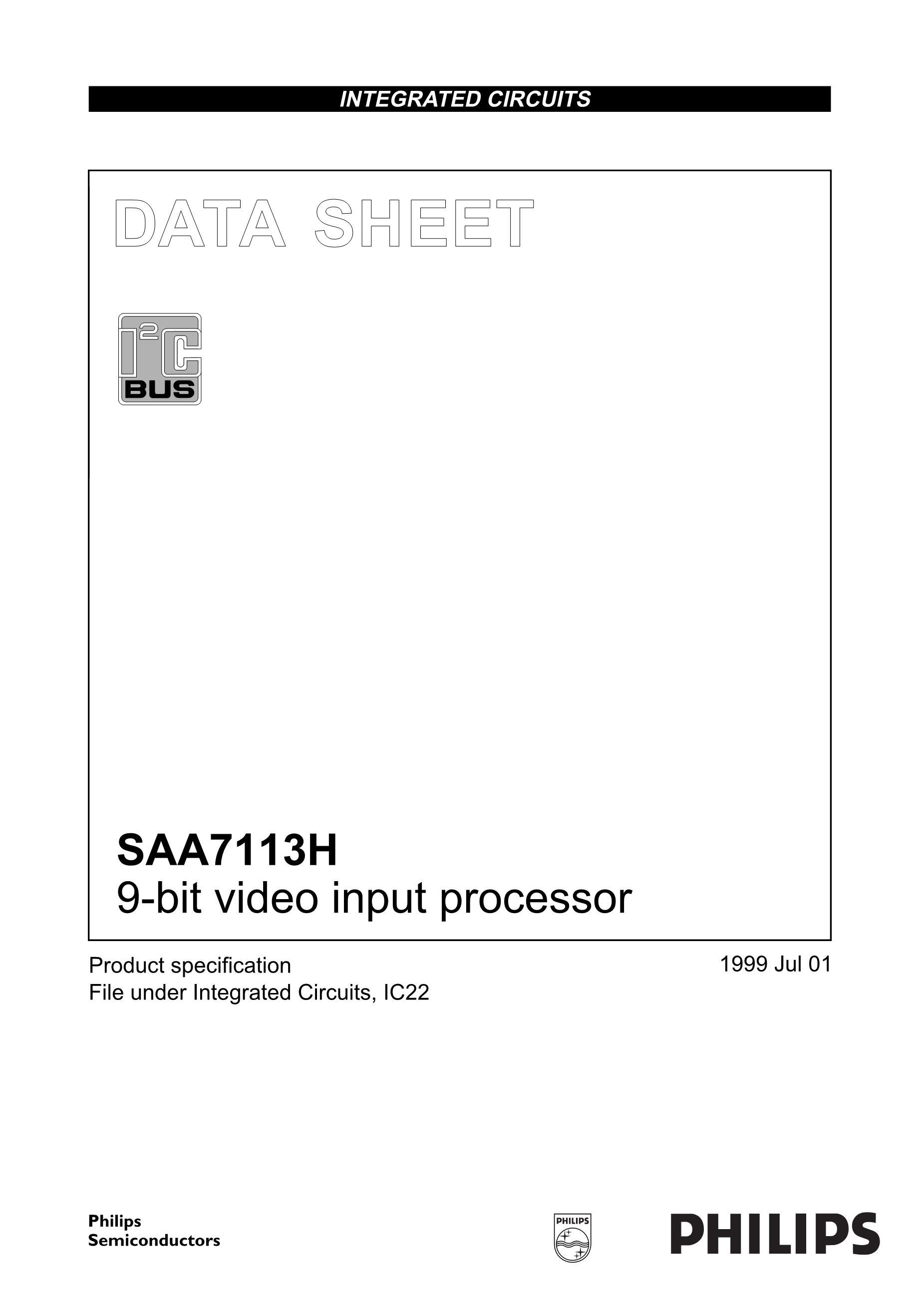 SAA7103H/V4,518's pdf picture 1