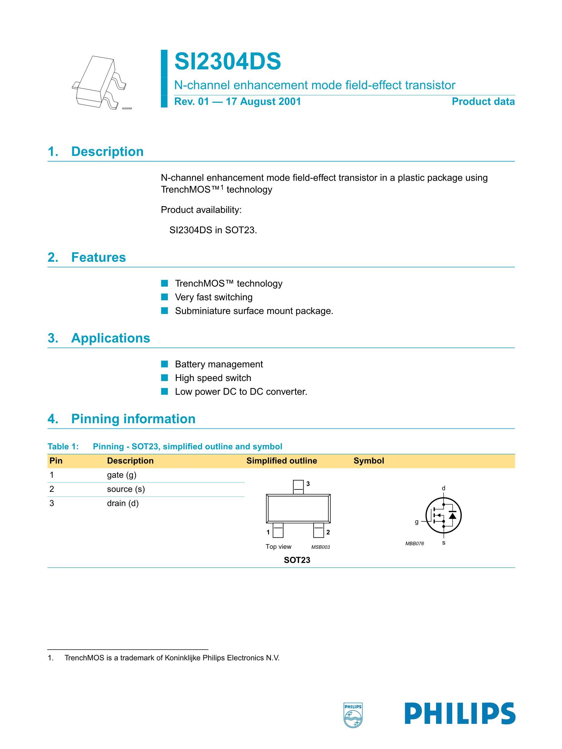 SI2307DS-T1's pdf picture 1