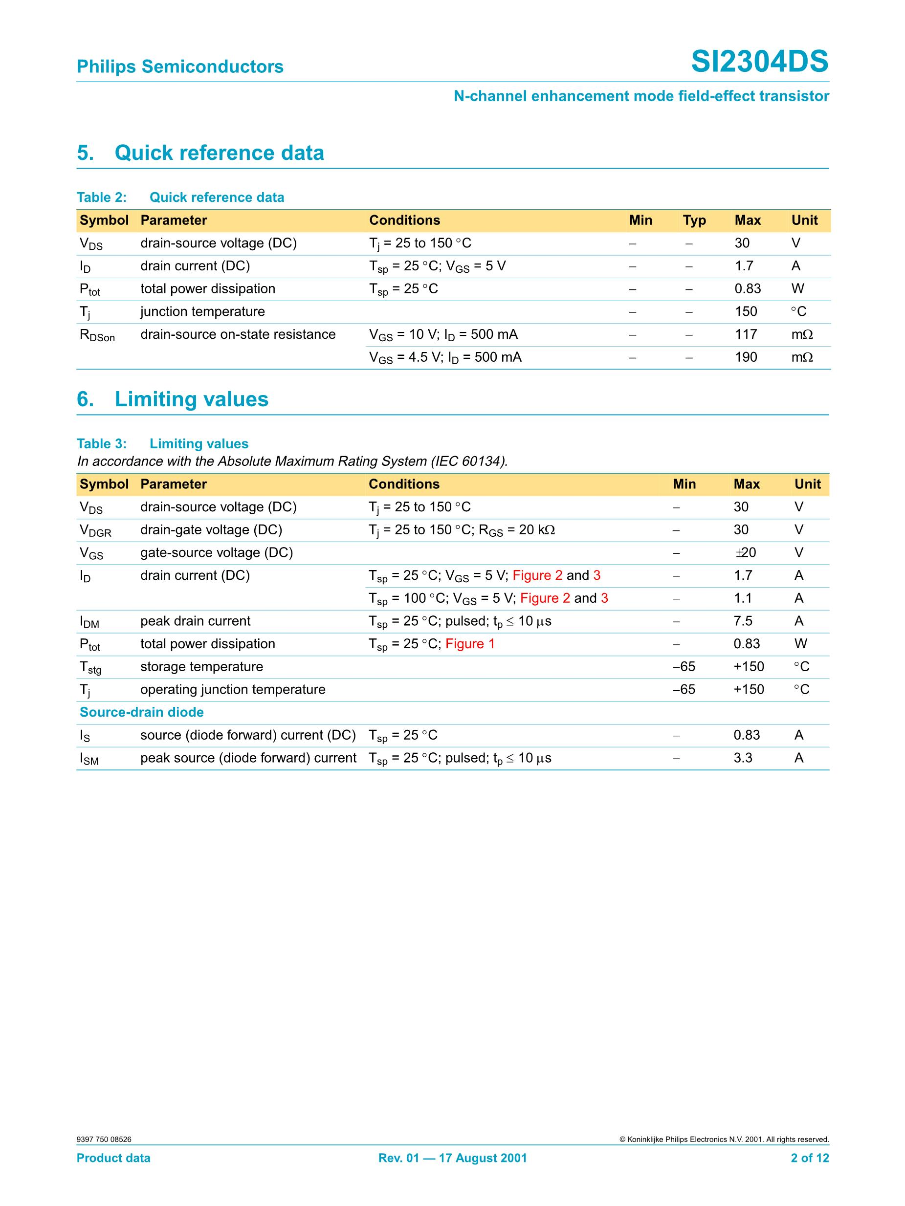 SI2307DS-T1's pdf picture 2