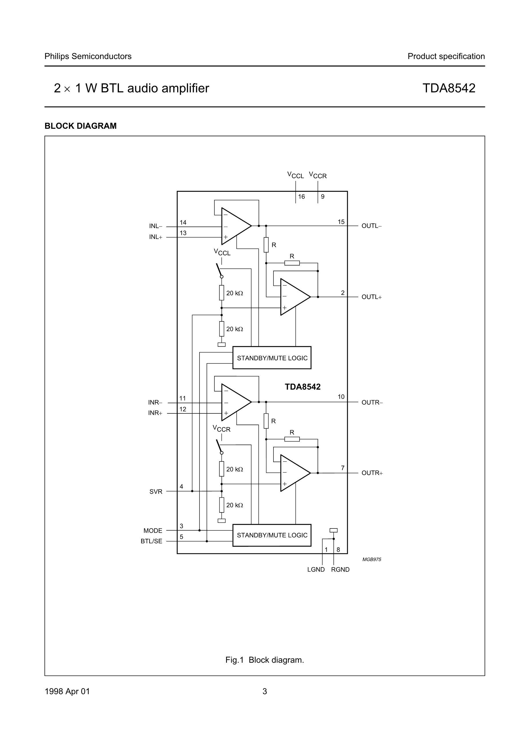 TDA8501/N1,112's pdf picture 3
