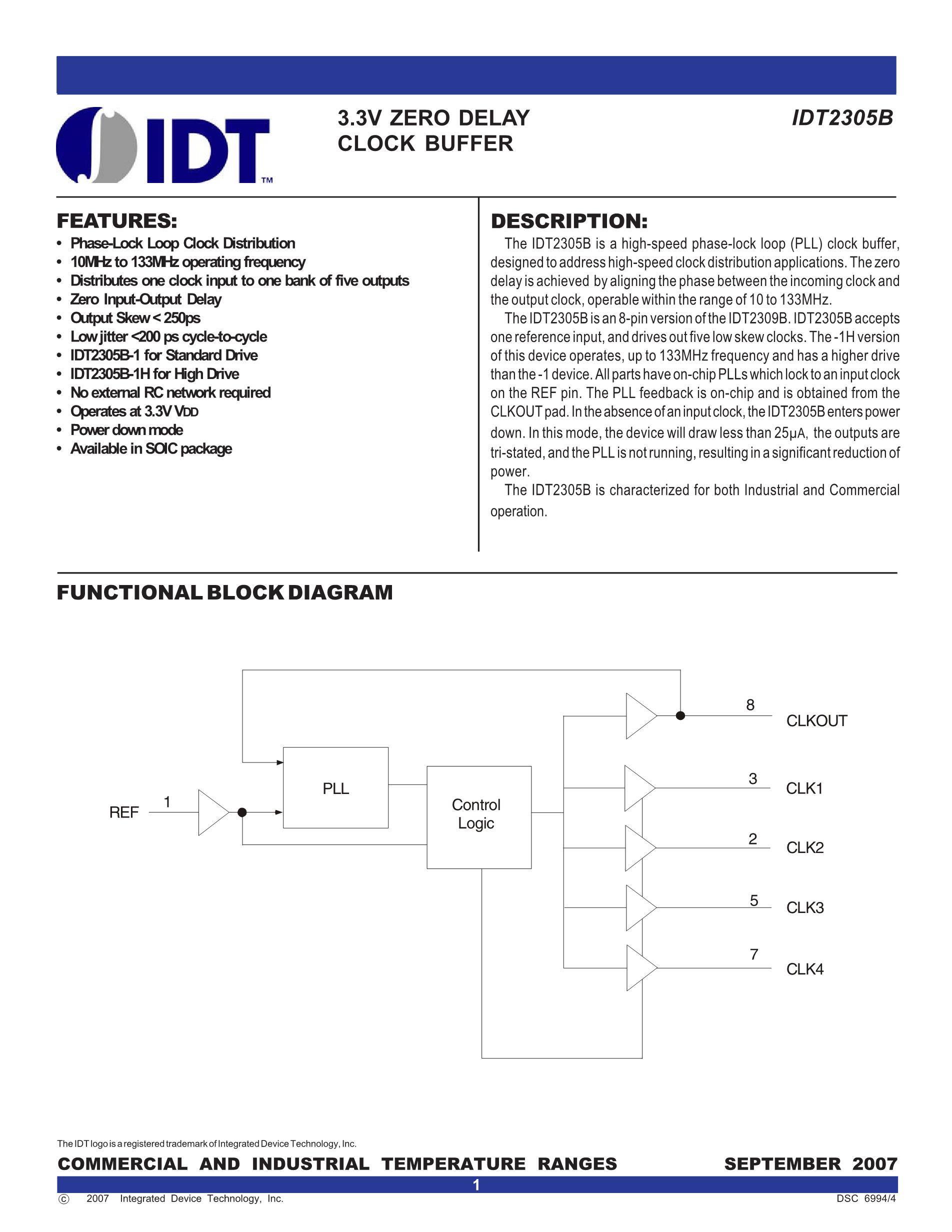 IDT2309A-1DC8's pdf picture 1