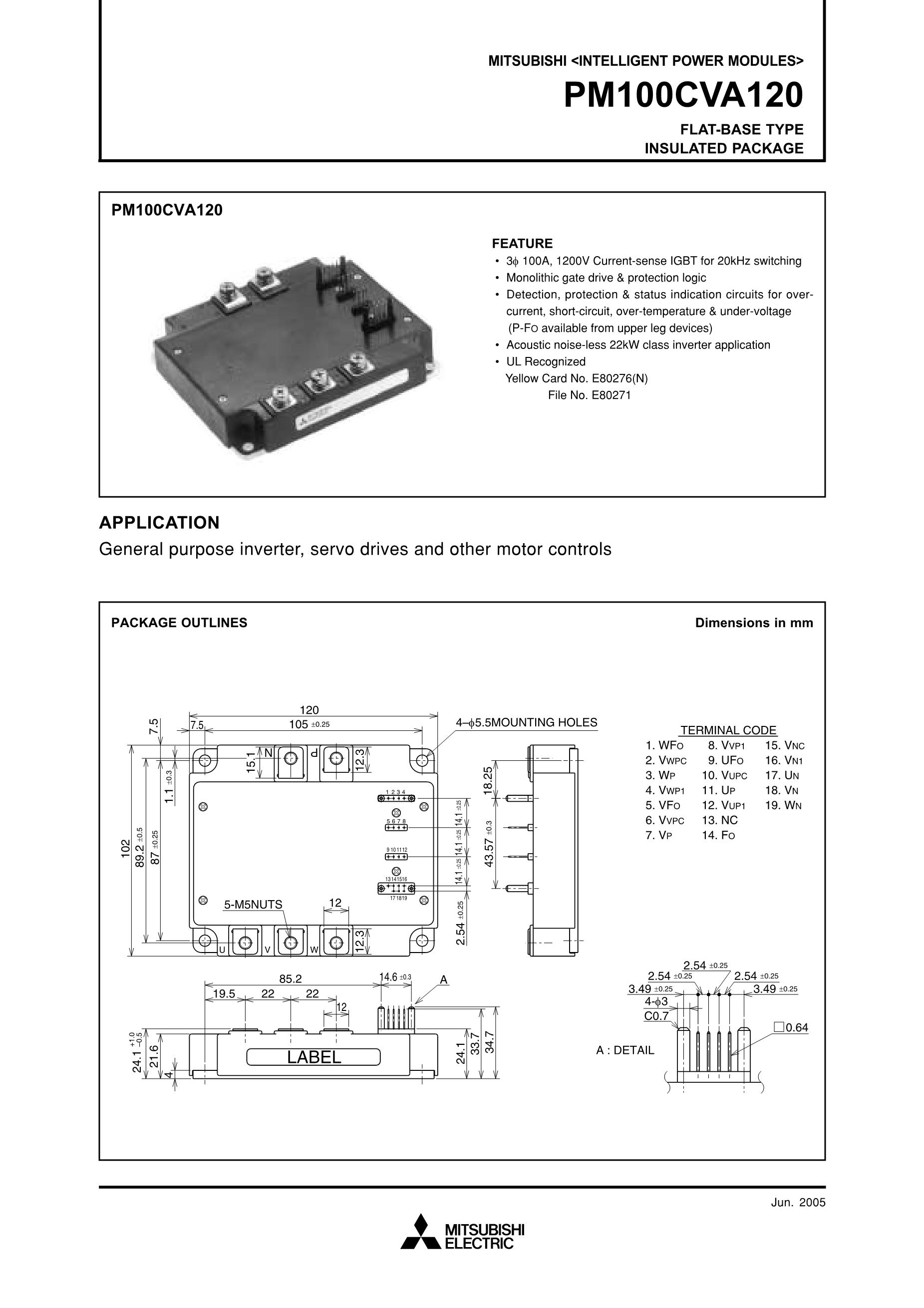 PM100CSA-060's pdf picture 1