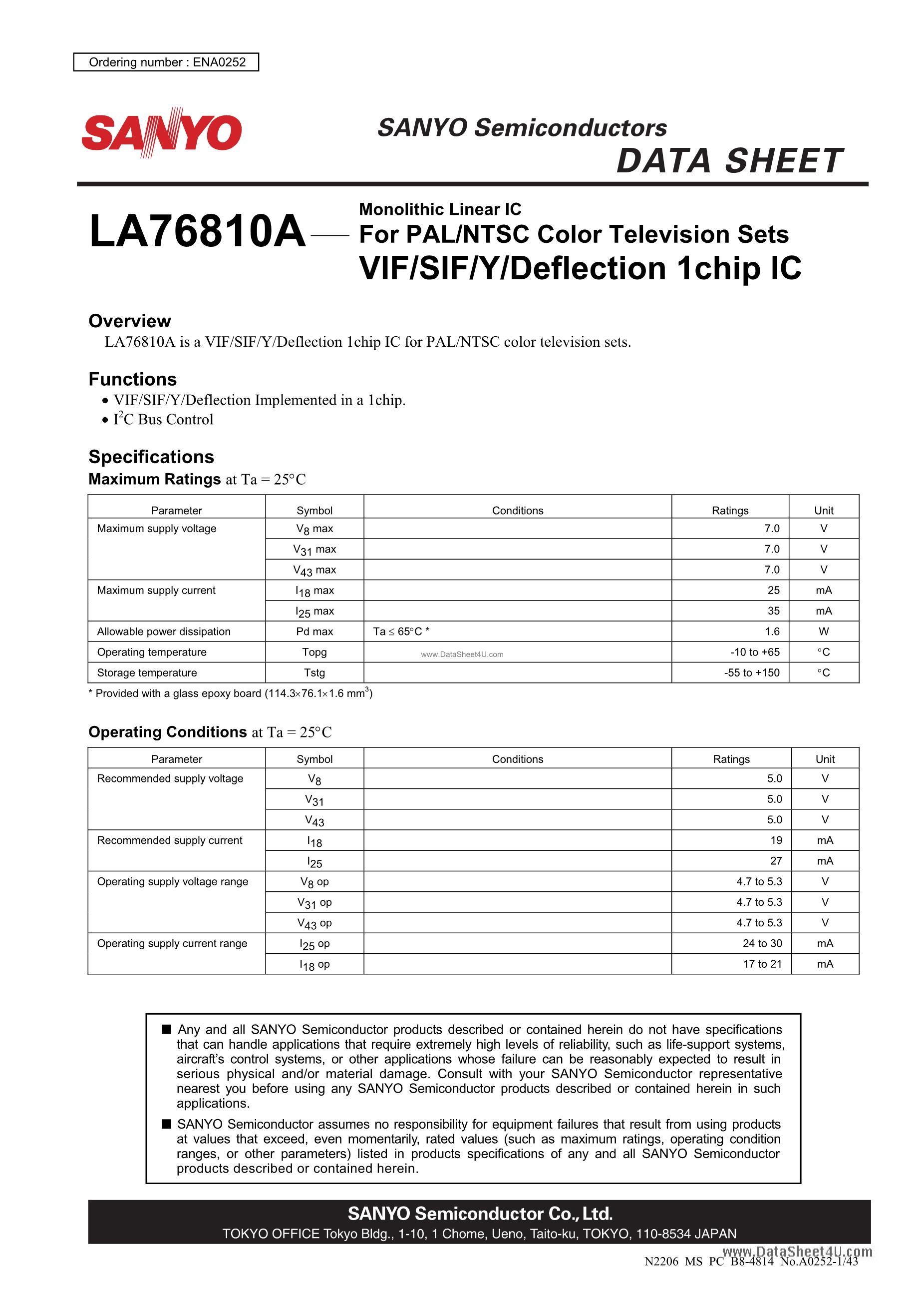 LA76920M6B-5V63-MPB's pdf picture 1