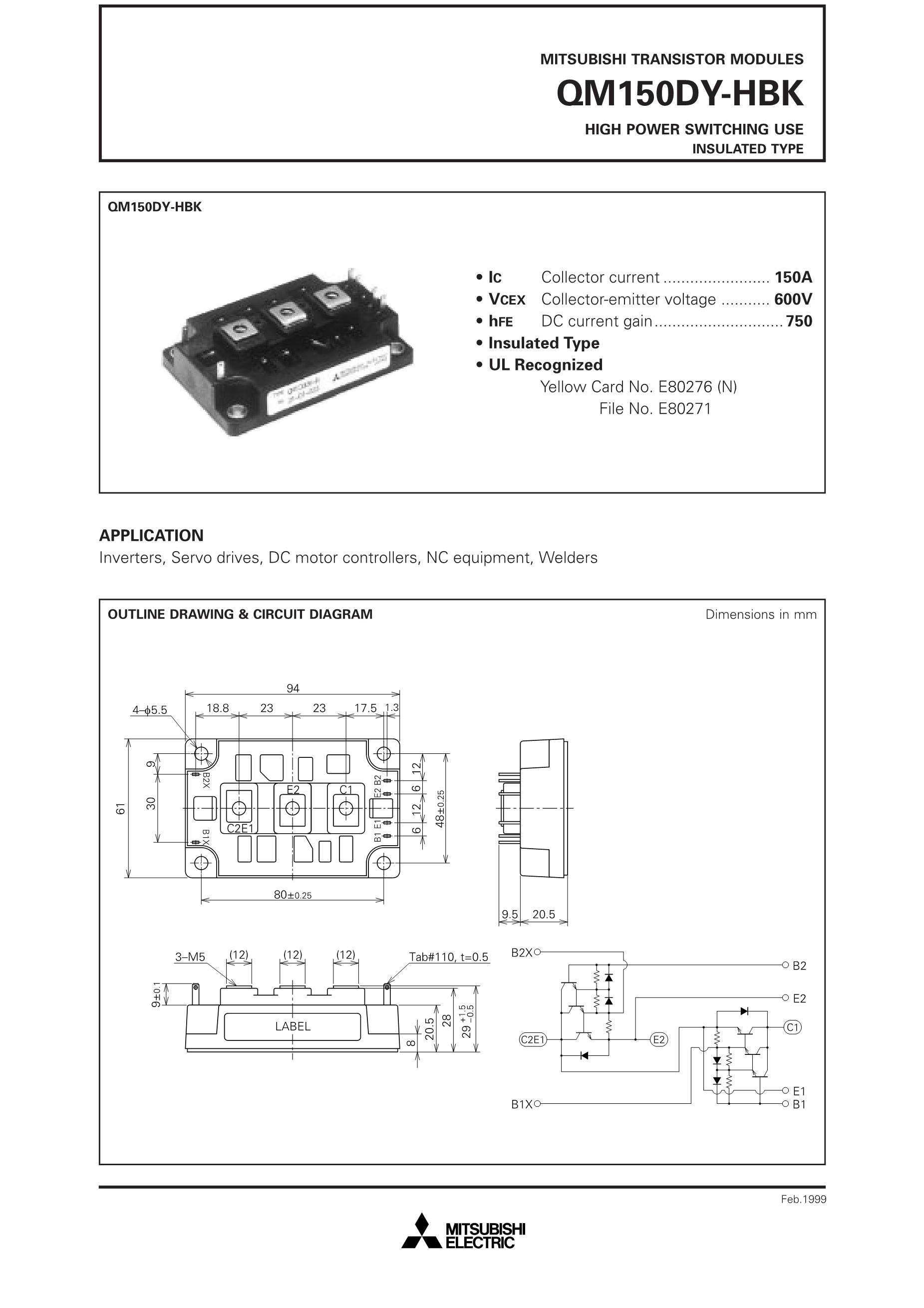 QM150DY-H's pdf picture 1