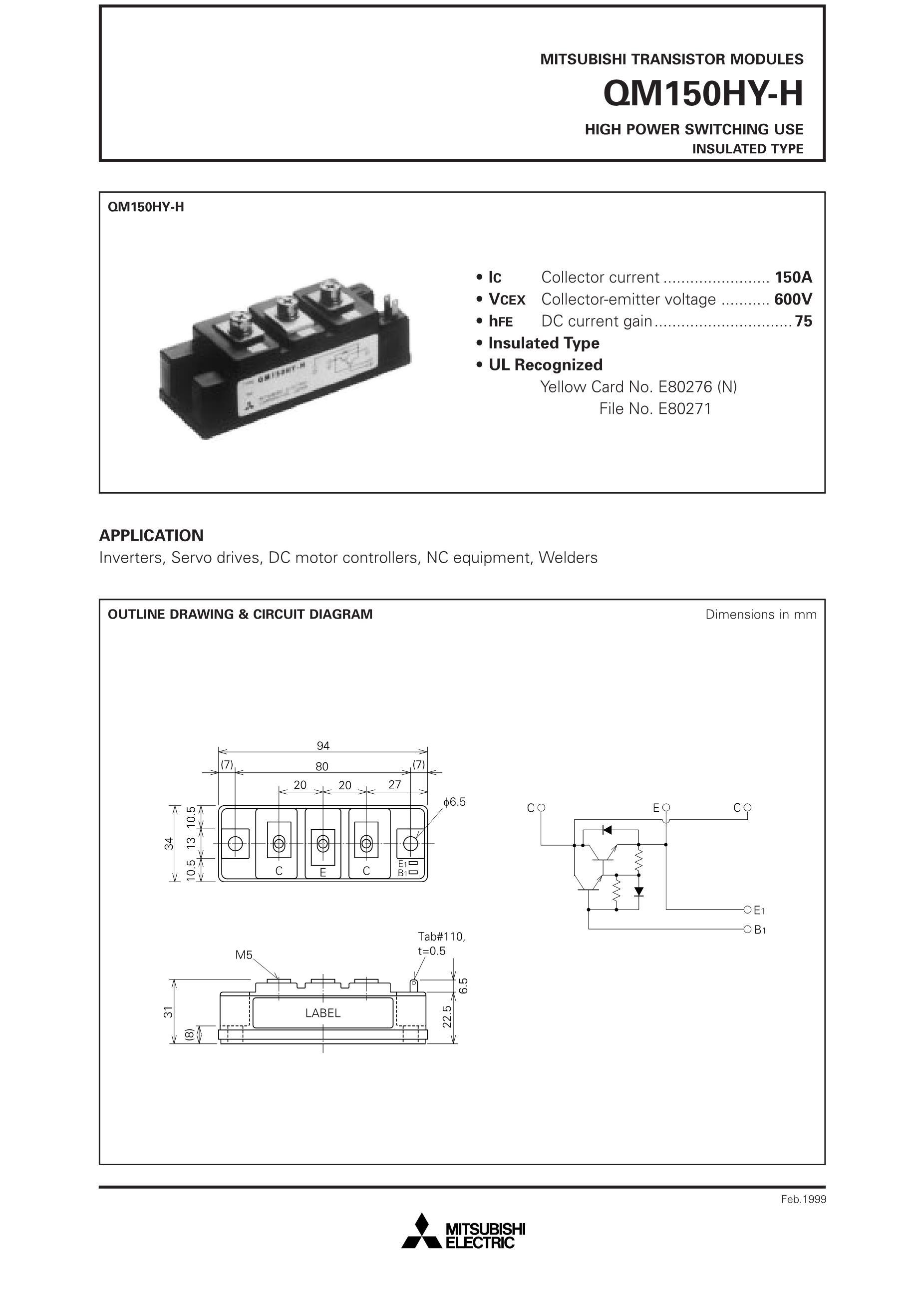 QM150CY-H's pdf picture 1