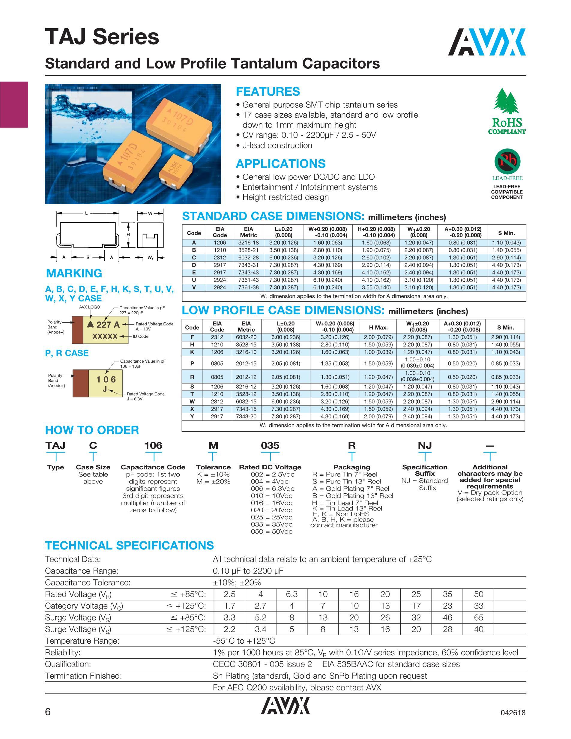 TAJC106M016RNJ(16V10's pdf picture 1
