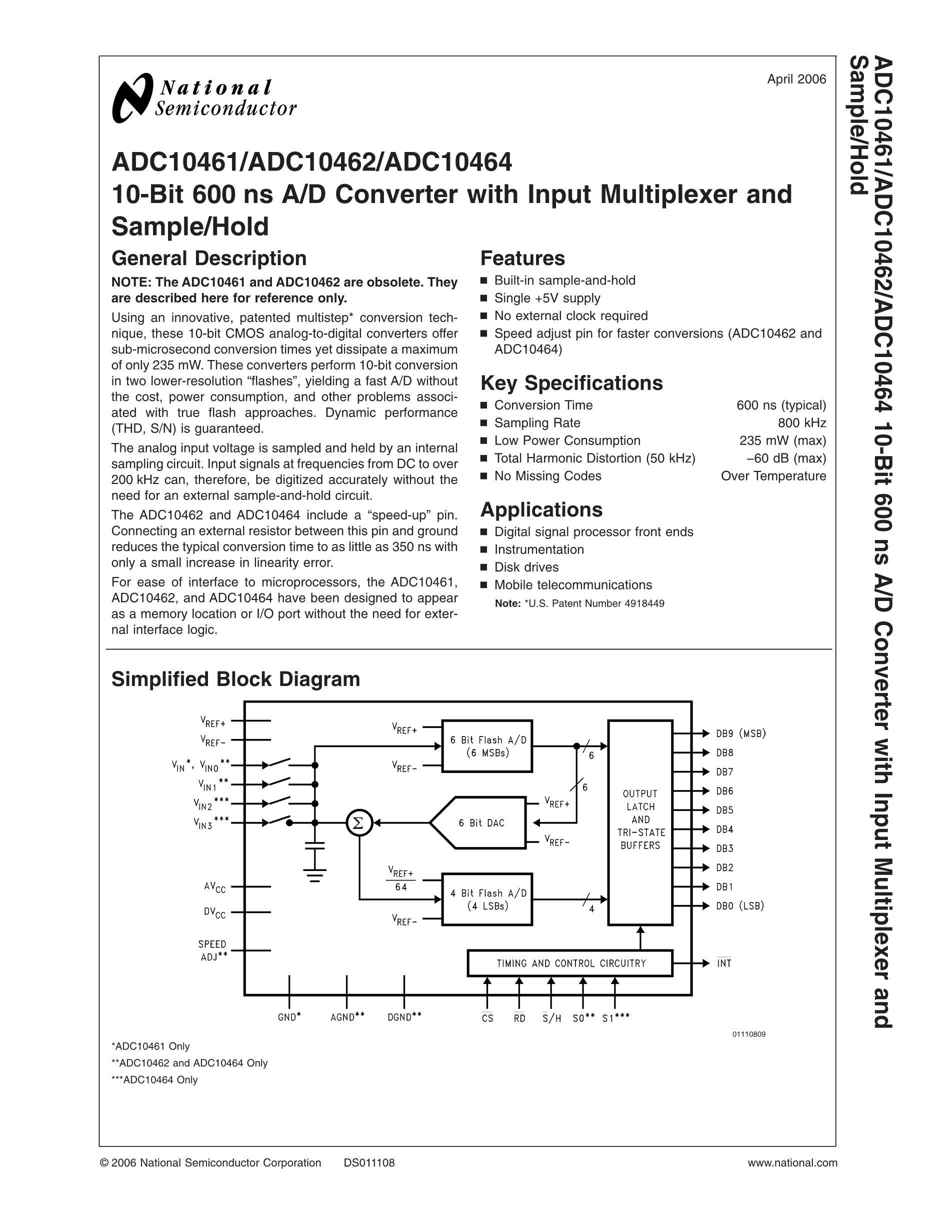 ADC104S021QIMM/NOPB's pdf picture 1