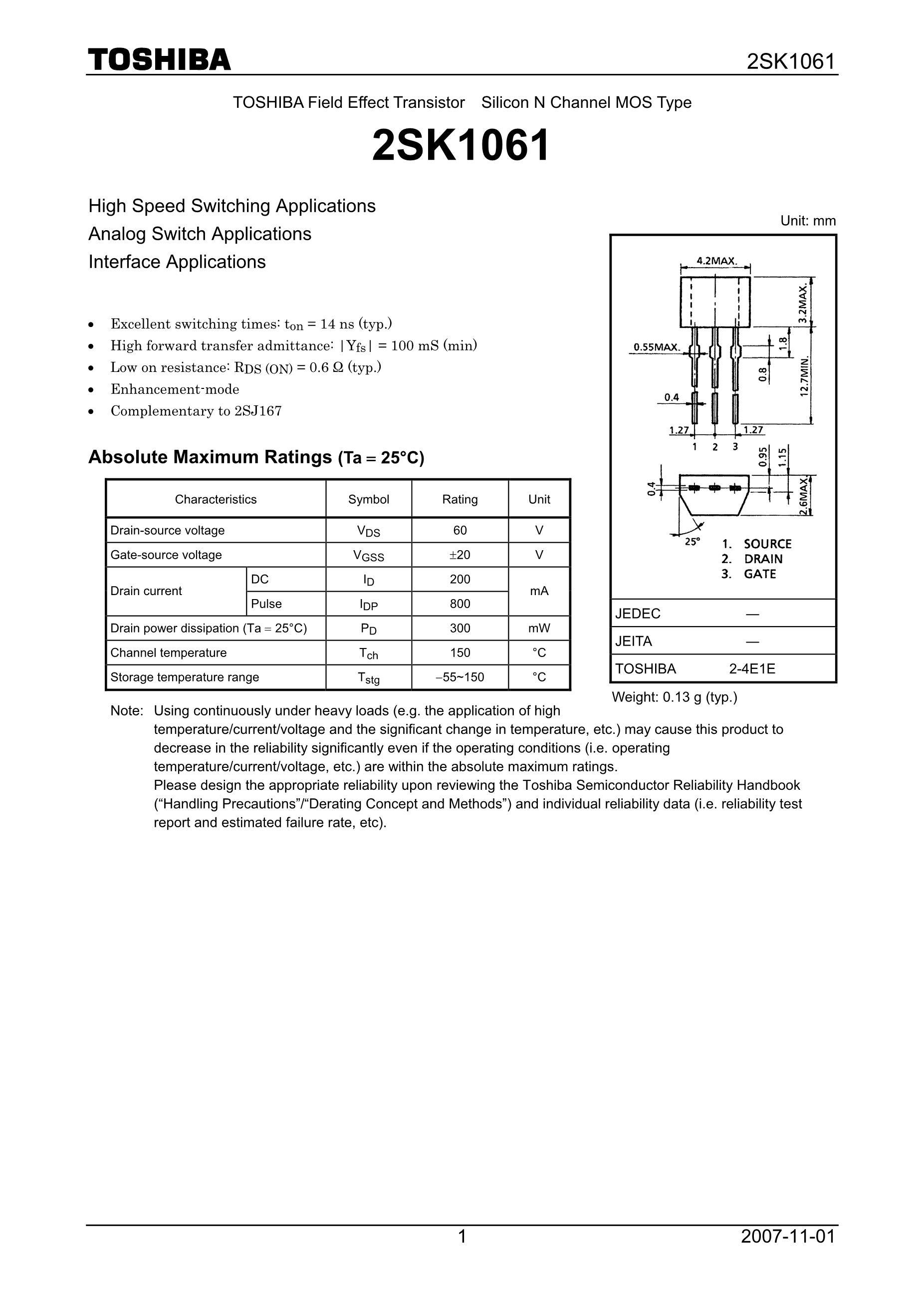 2SK157XC-01/XC's pdf picture 1