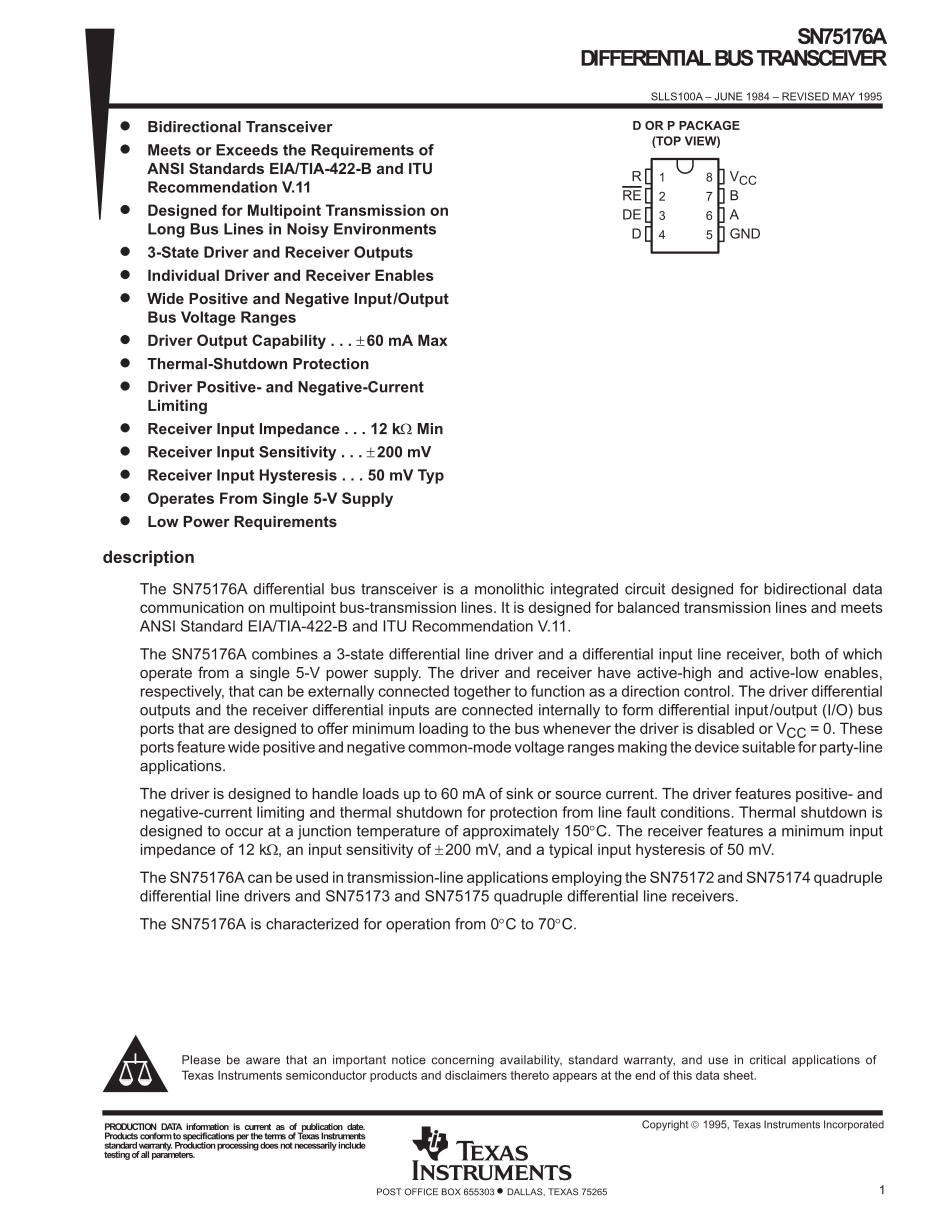 SN75C1168NS's pdf picture 1