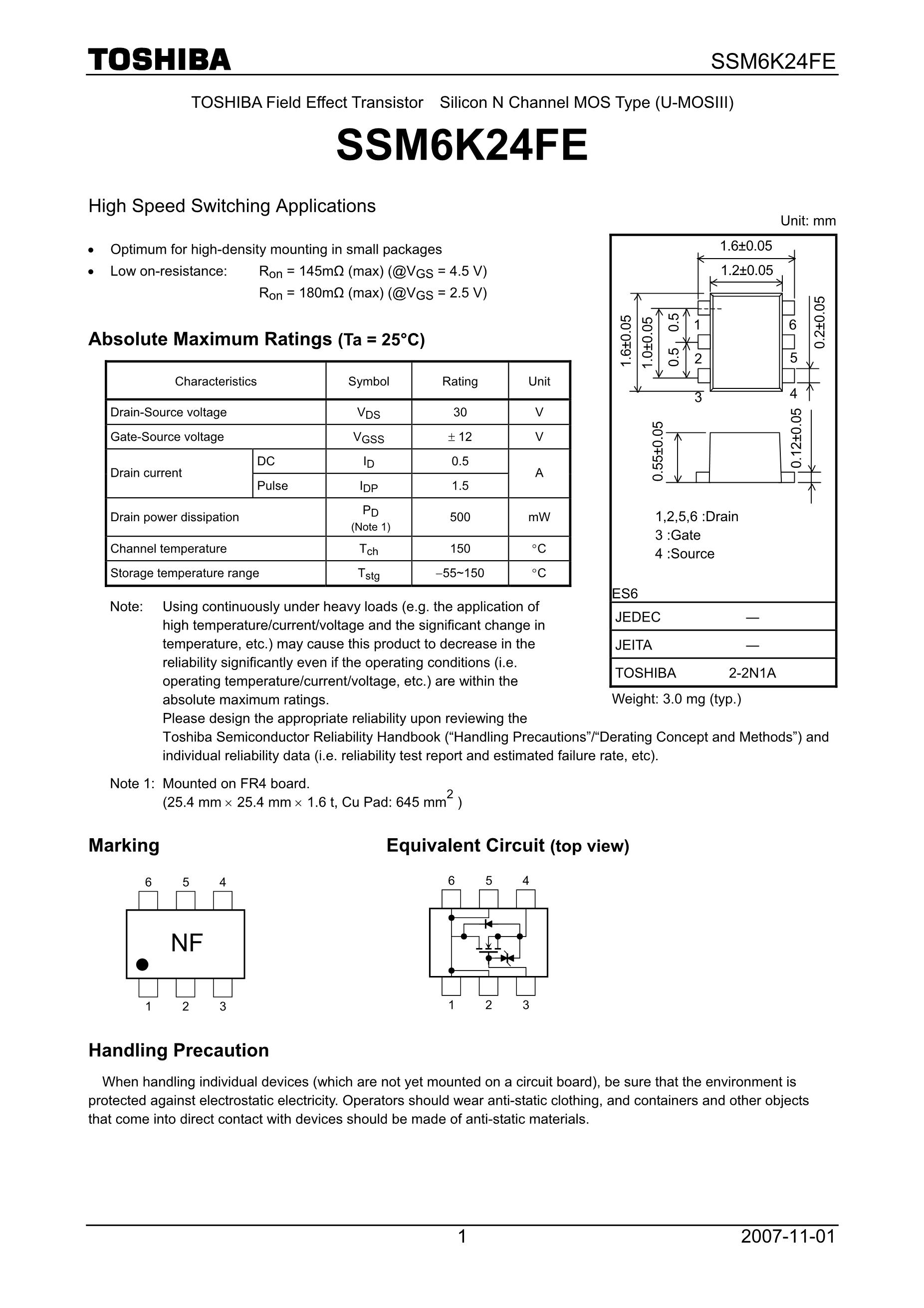 SSM6N15FU/DP's pdf picture 1