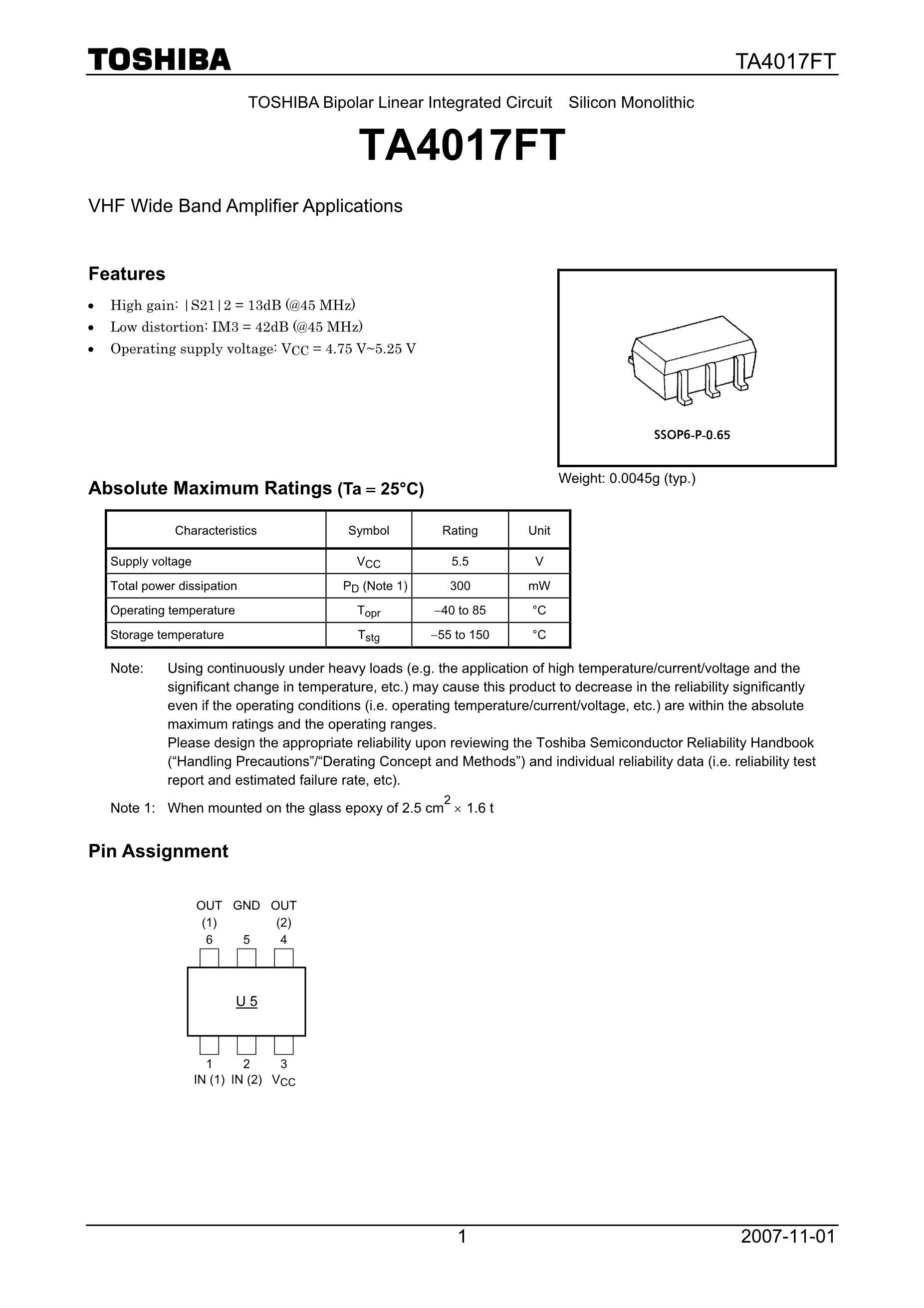TA4011FU(U3)'s pdf picture 1