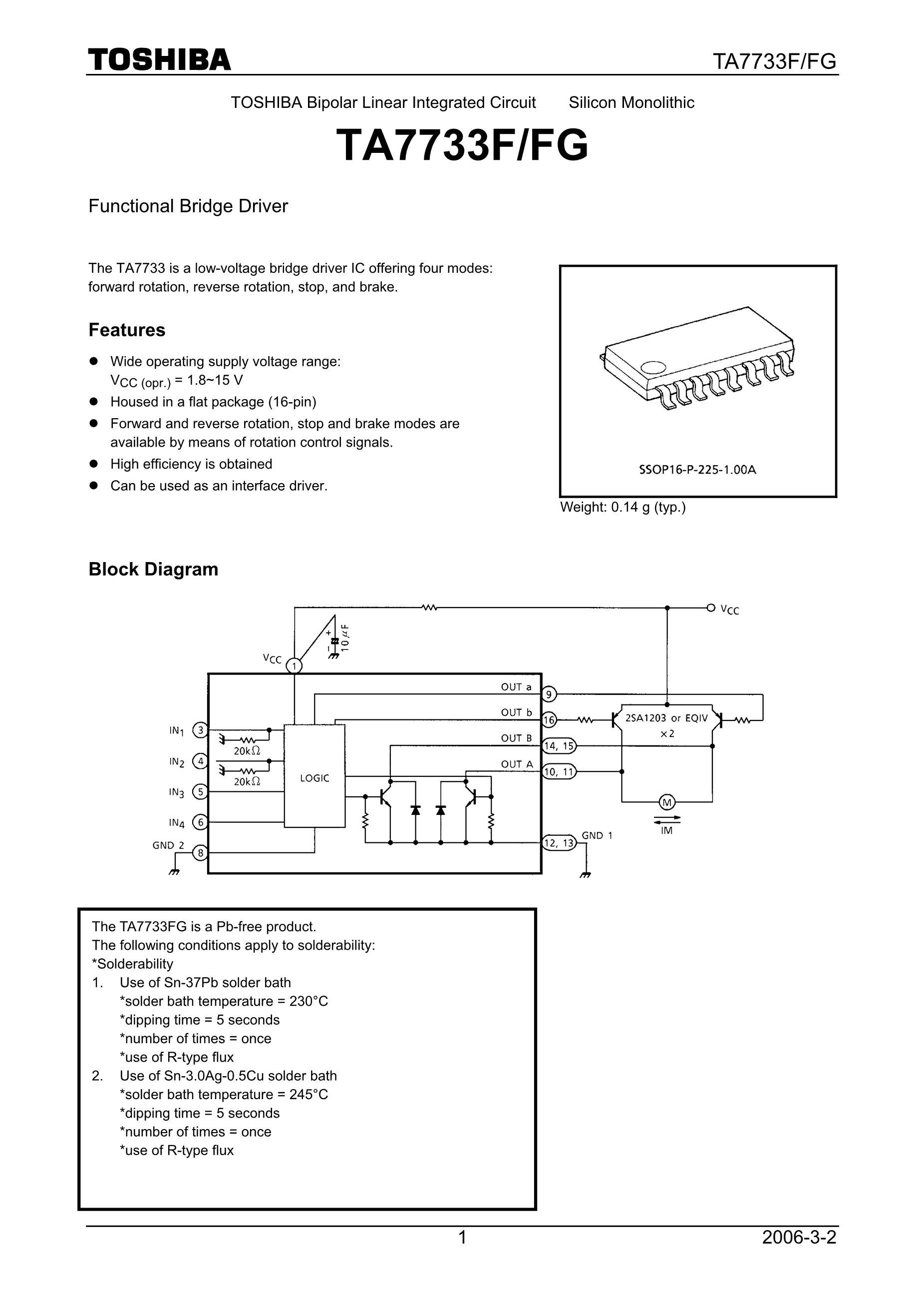 TA7765AF/F's pdf picture 1