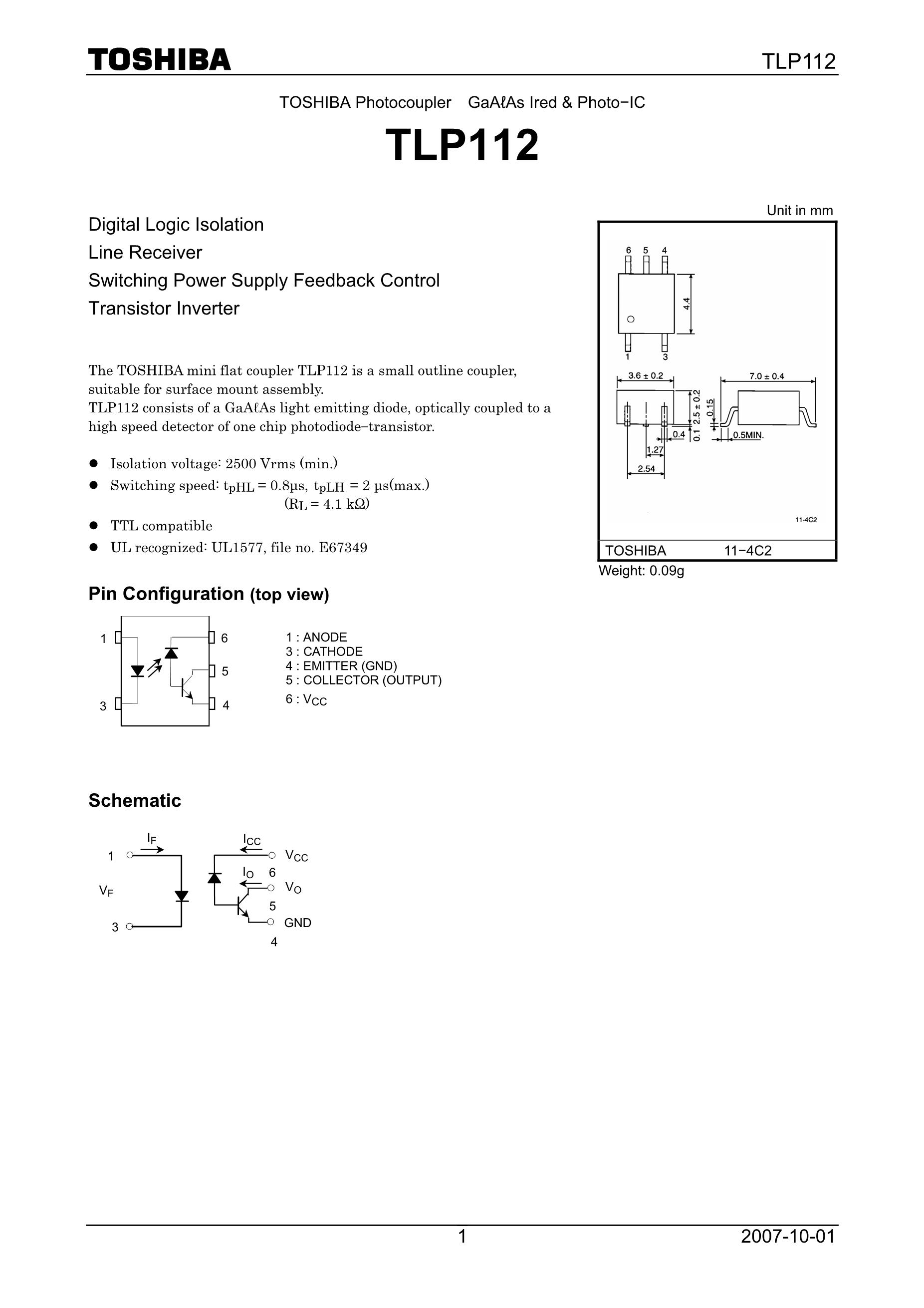 TLP112A(TPL,F)'s pdf picture 1