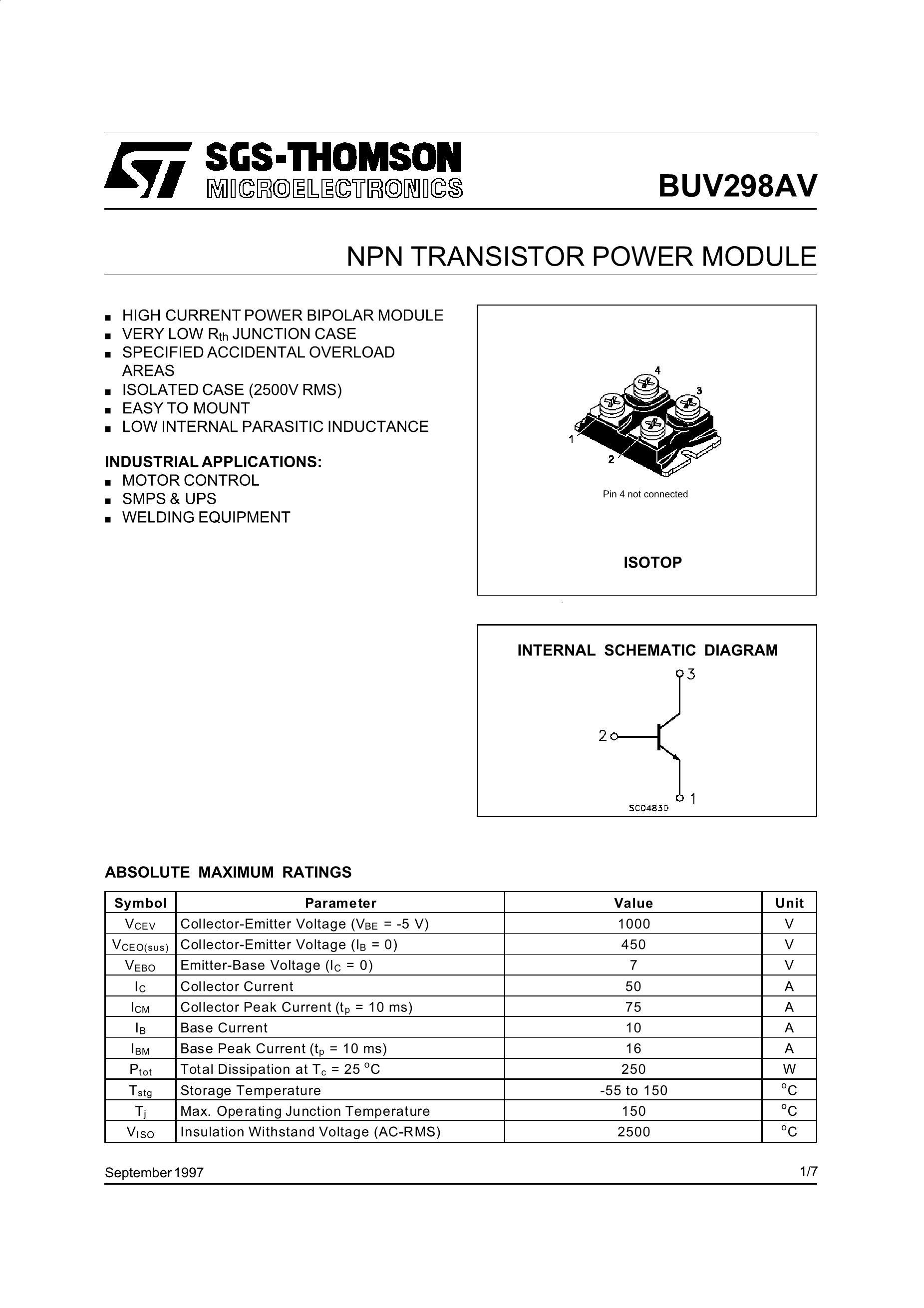 BUV298AV's pdf picture 1