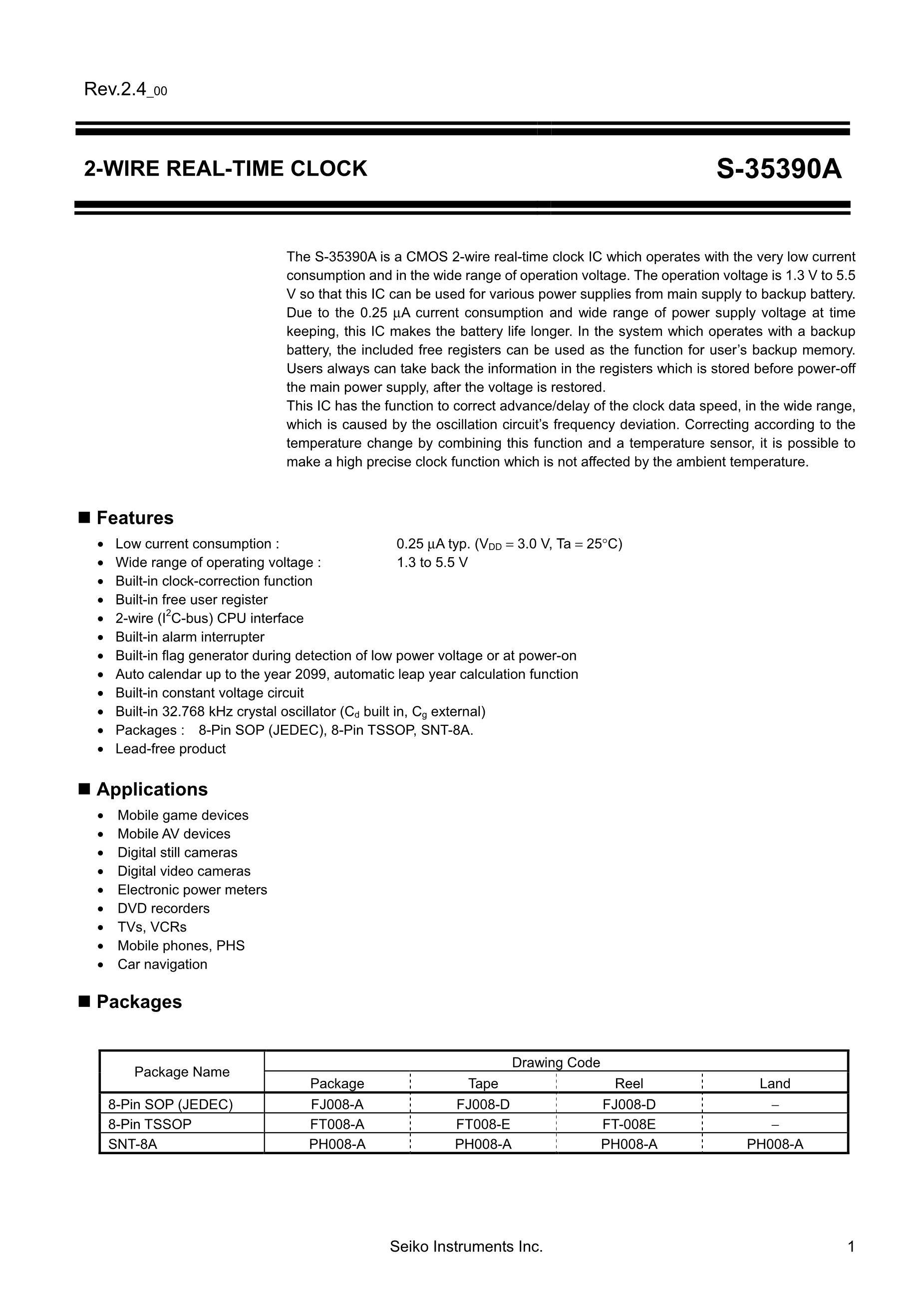 S-35390A-T8T1G's pdf picture 1