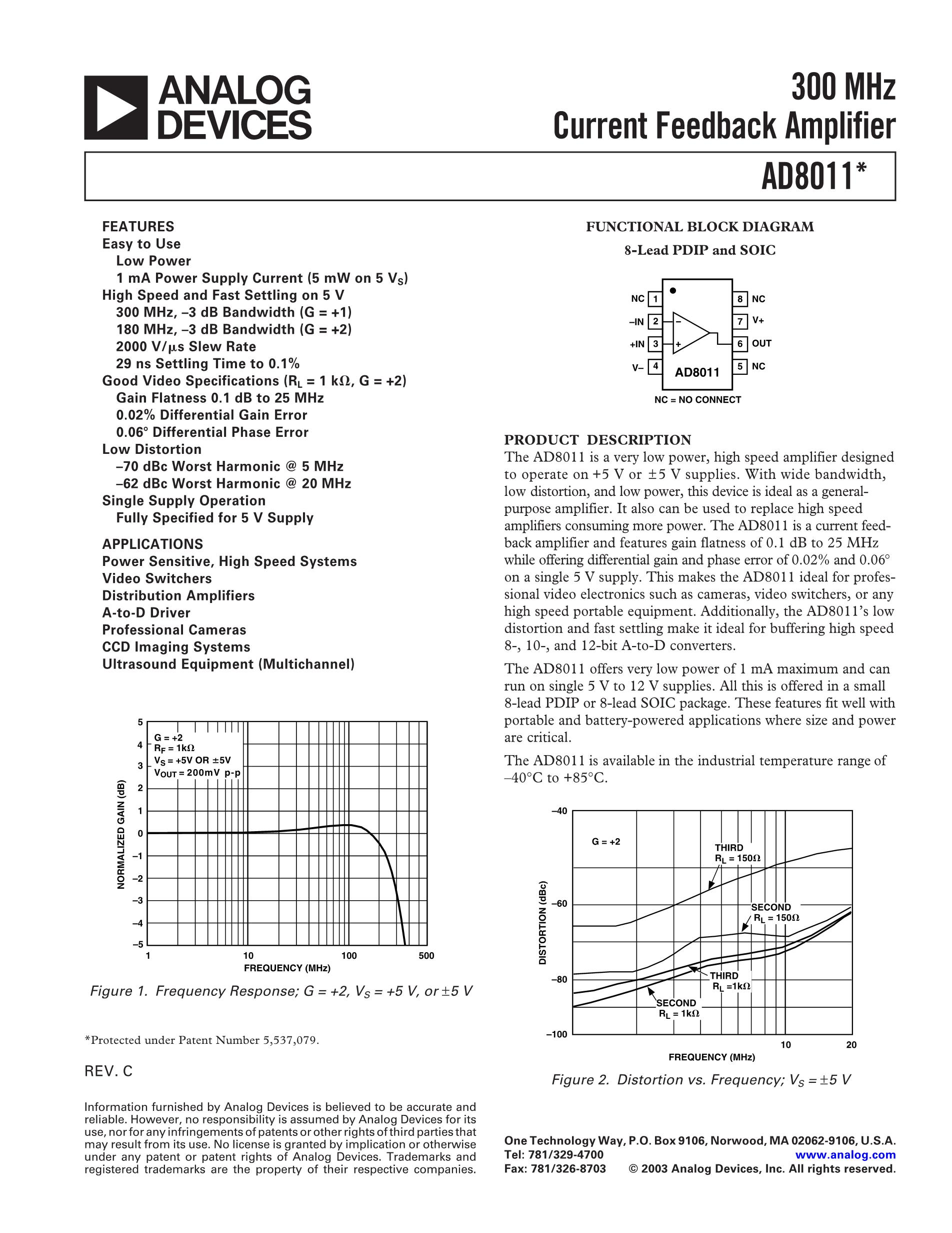 AD8042ARZ-REEL7's pdf picture 1