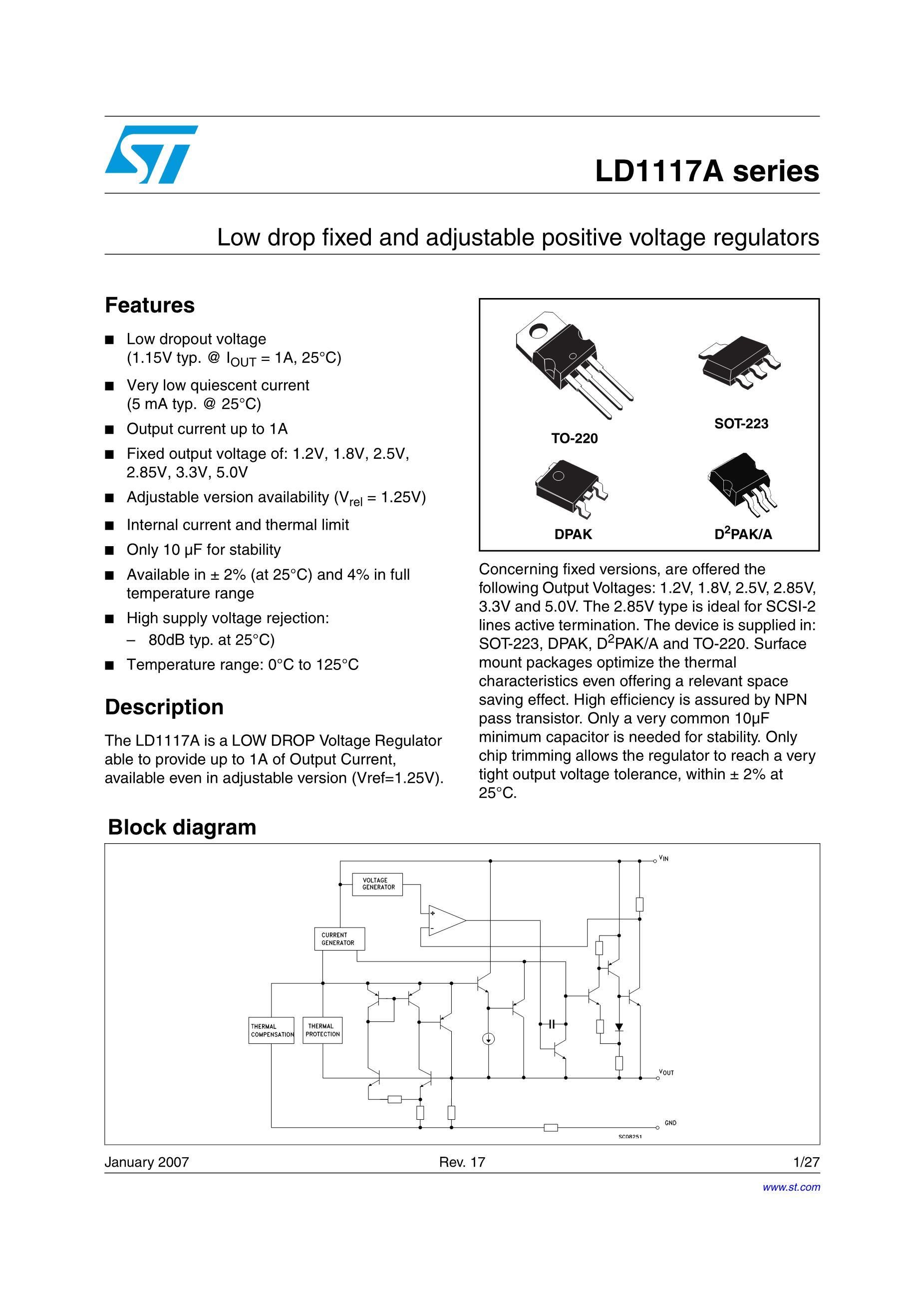 LD1117DT-3.3's pdf picture 1