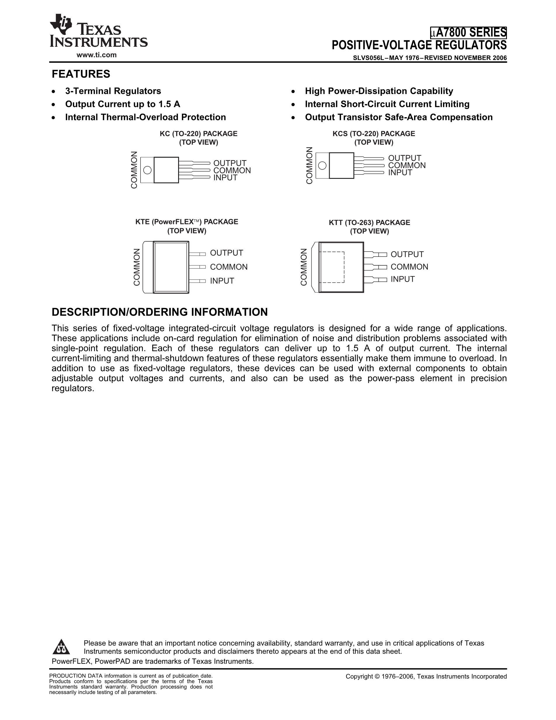 UA78M05CKCSE3's pdf picture 1