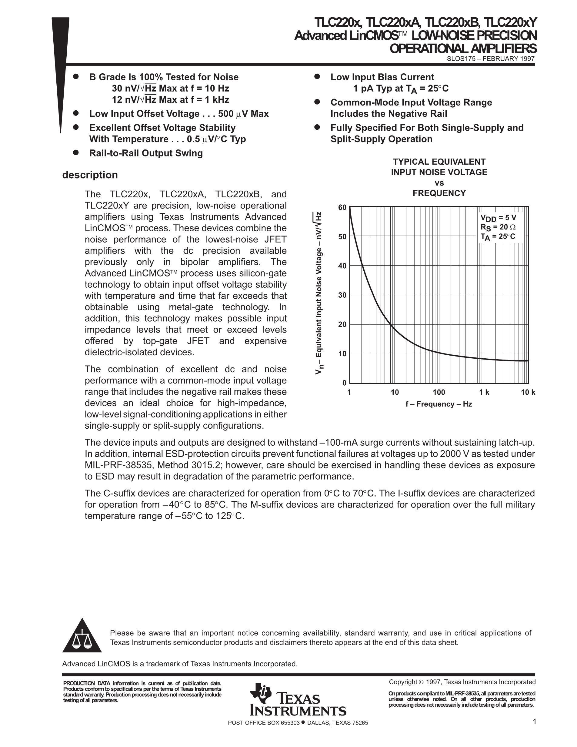 TLC2652AIN's pdf picture 1