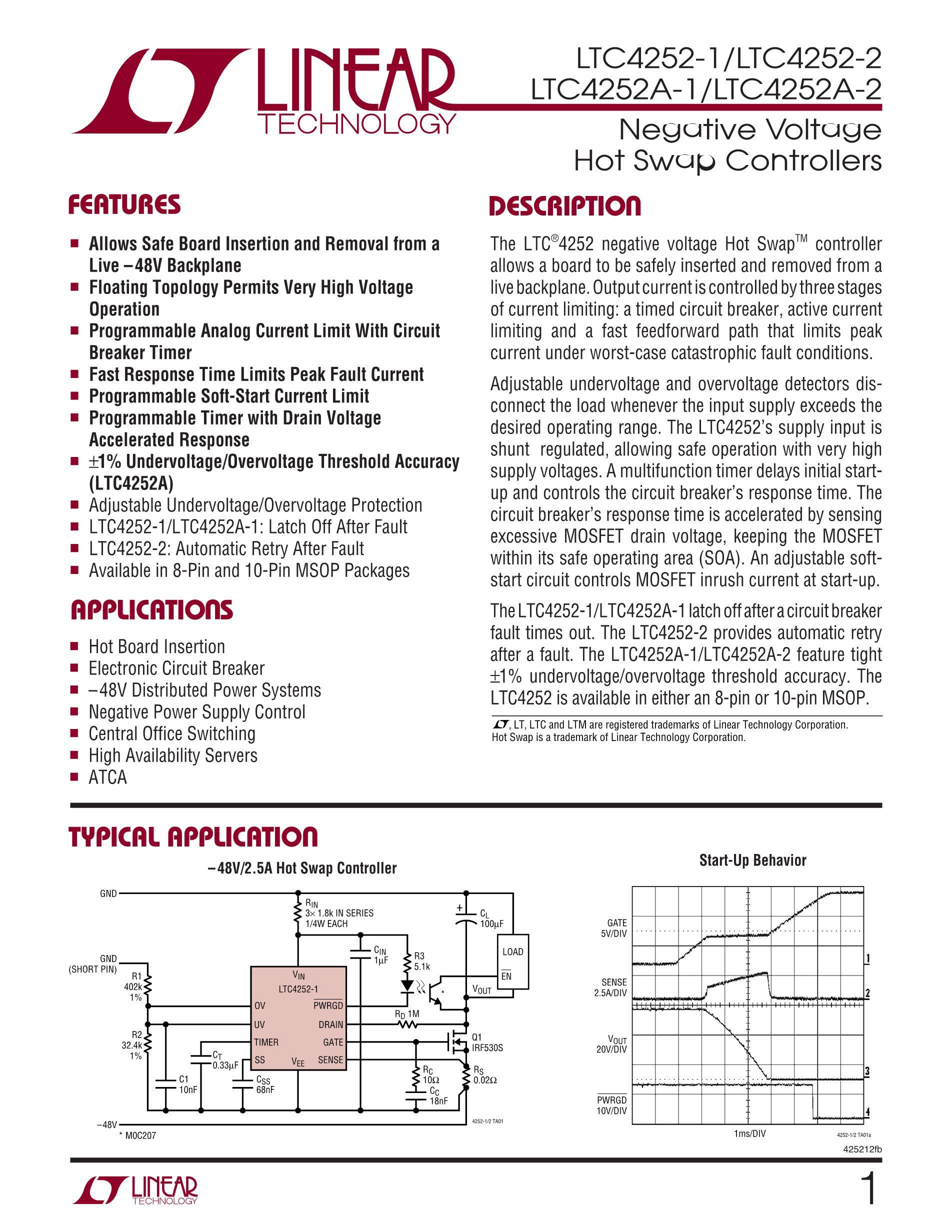 LTC4252-2IMS#PBF's pdf picture 1