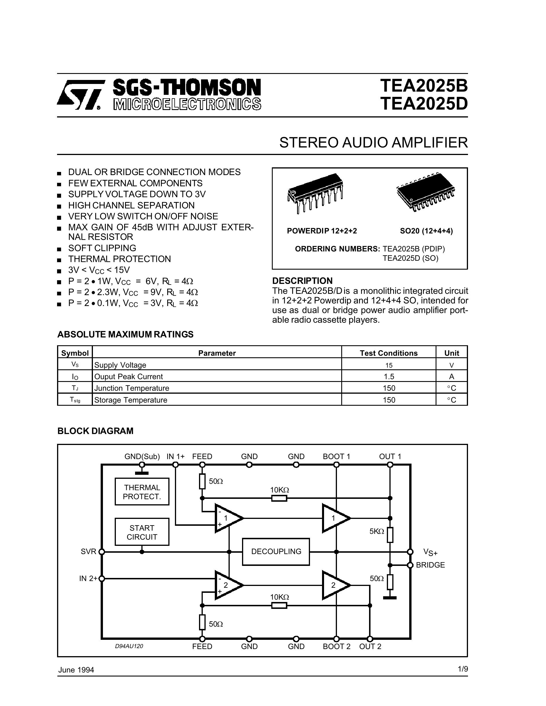TEA2031A's pdf picture 1