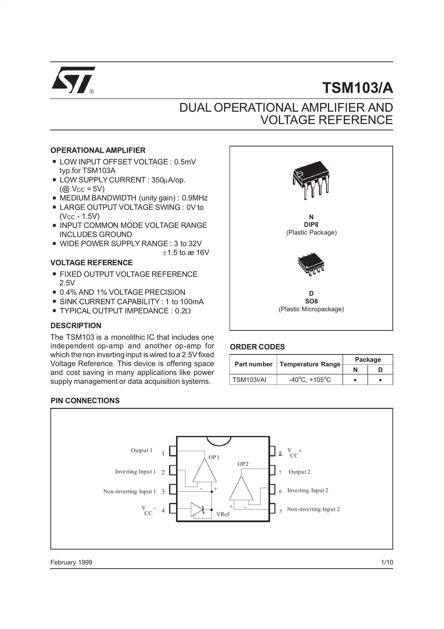 TSM103AIDT's pdf picture 1