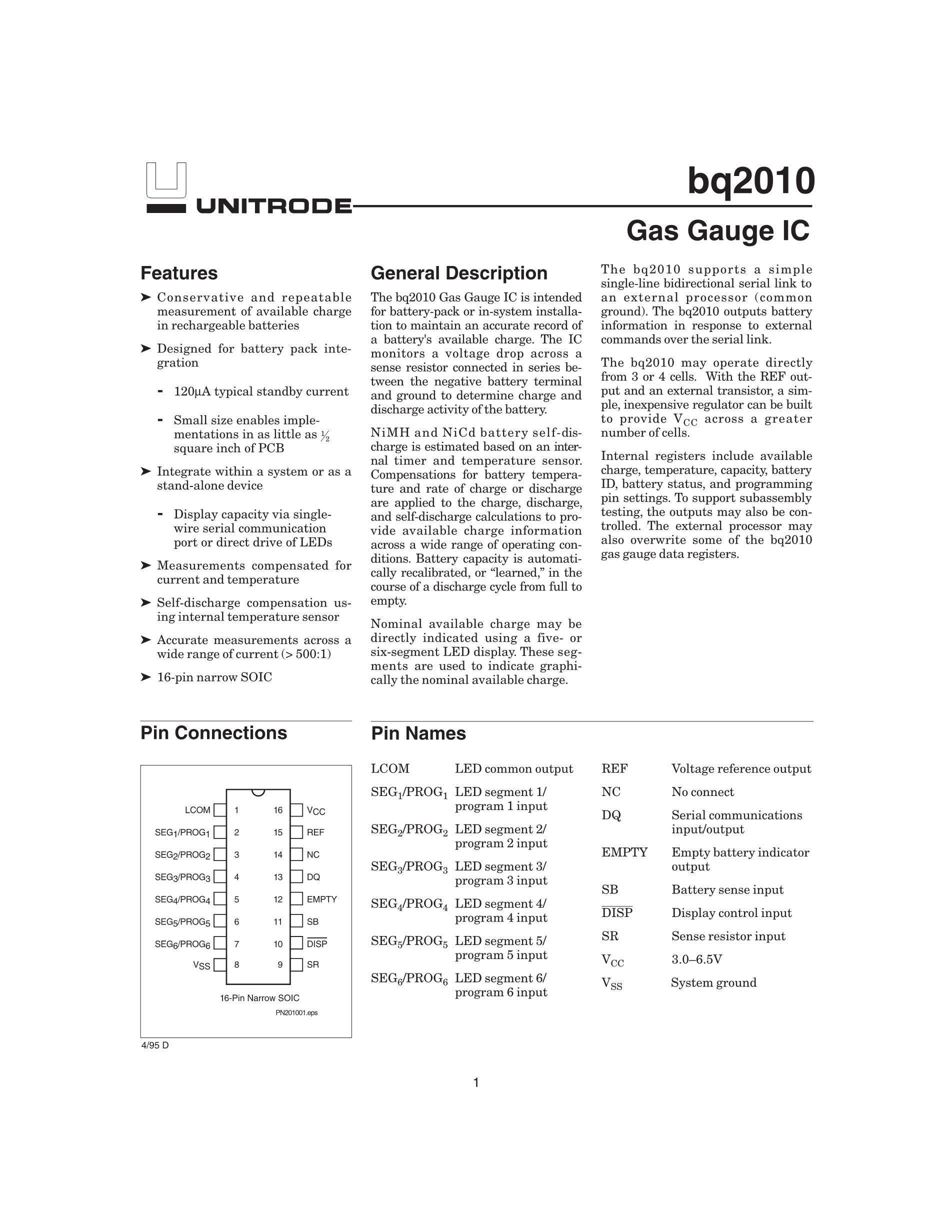 BQ2085DBT's pdf picture 1