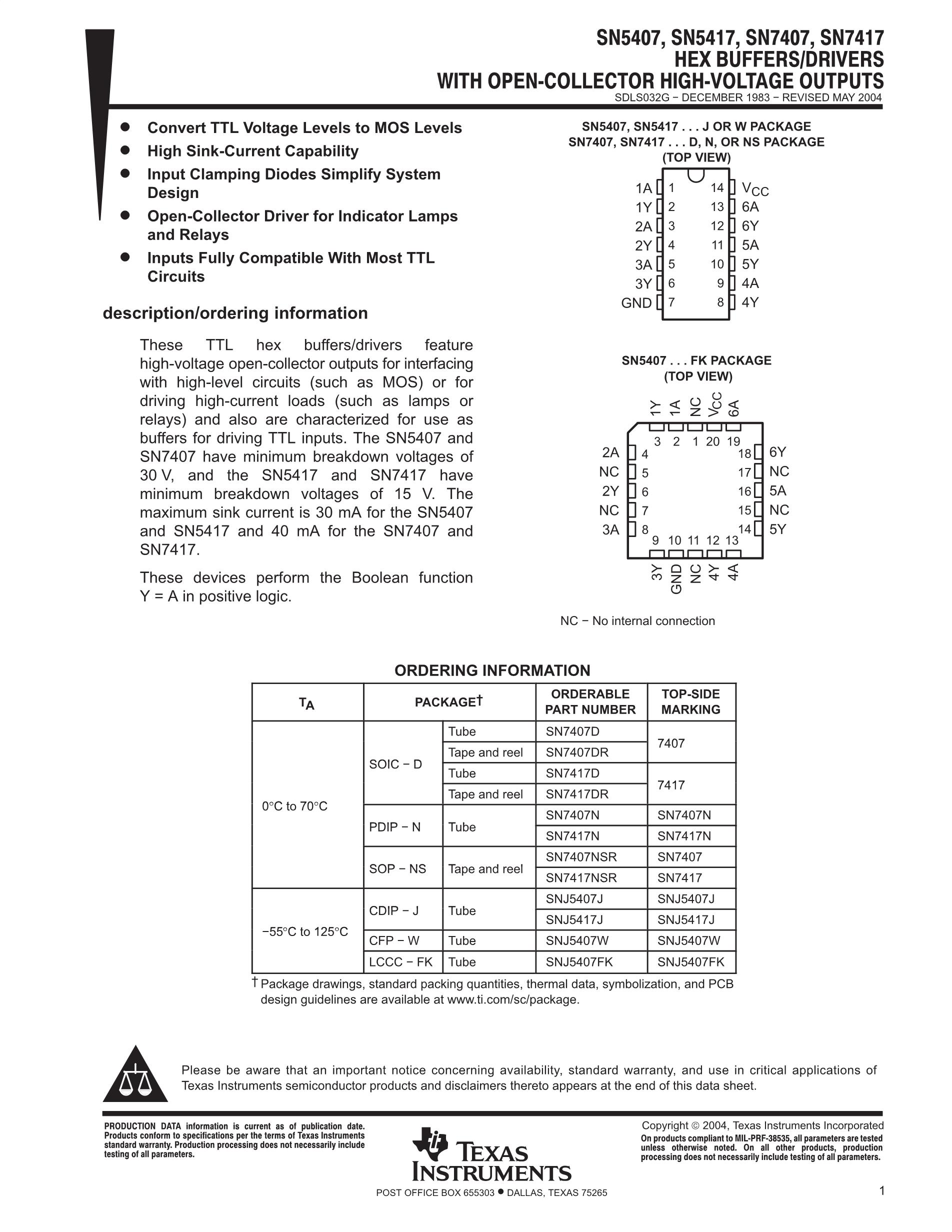 SN54S161/BER's pdf picture 1