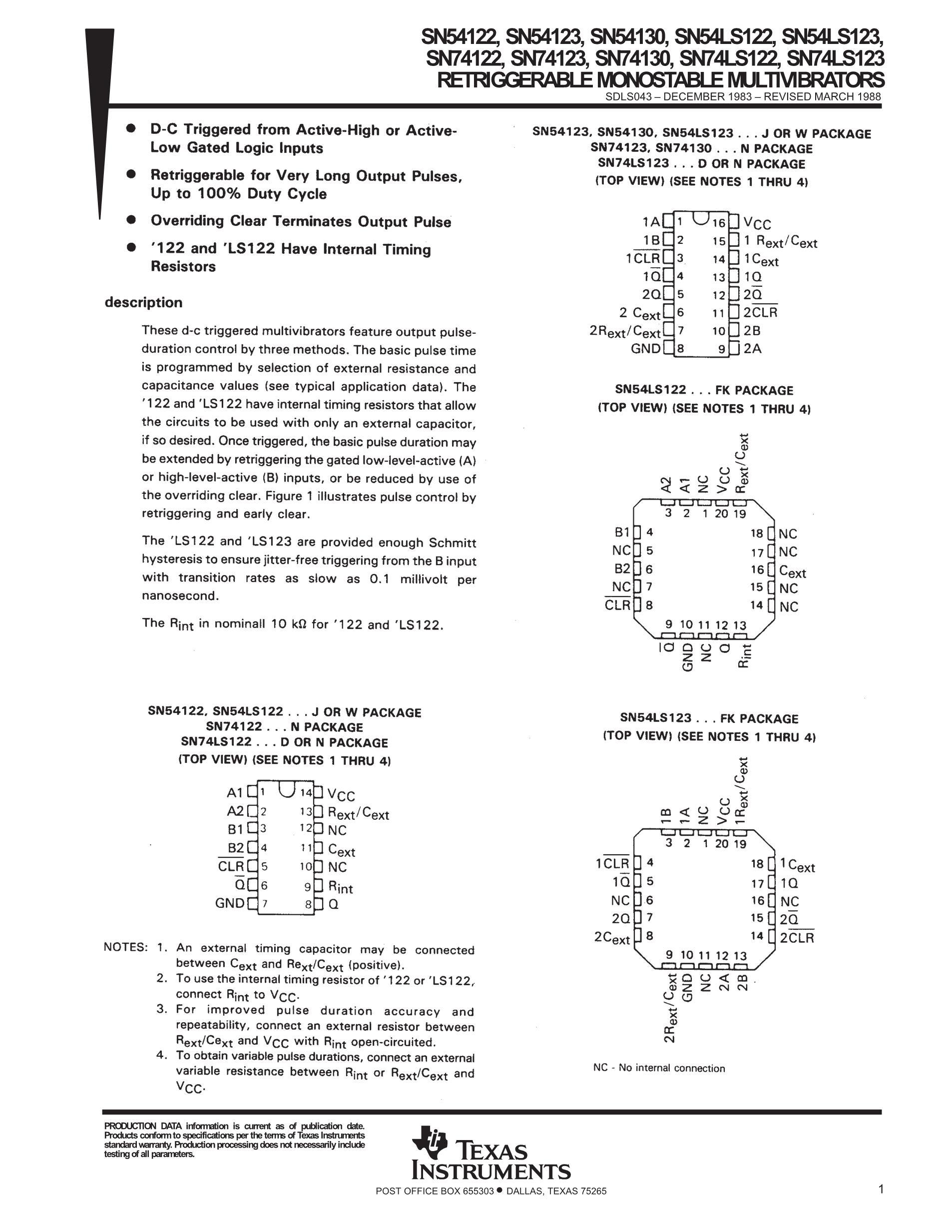 SN74123N's pdf picture 1