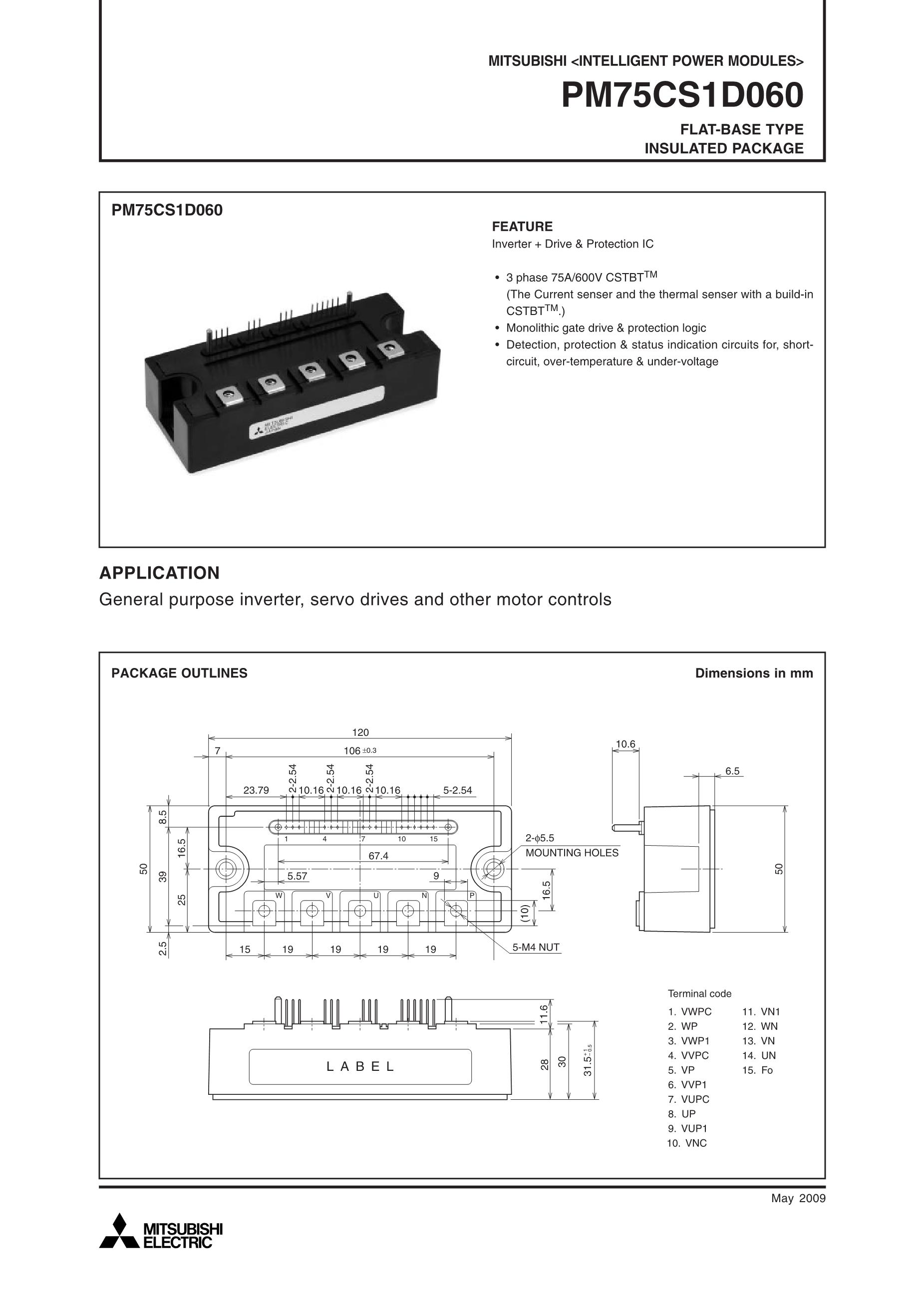 PM75DHA120's pdf picture 1