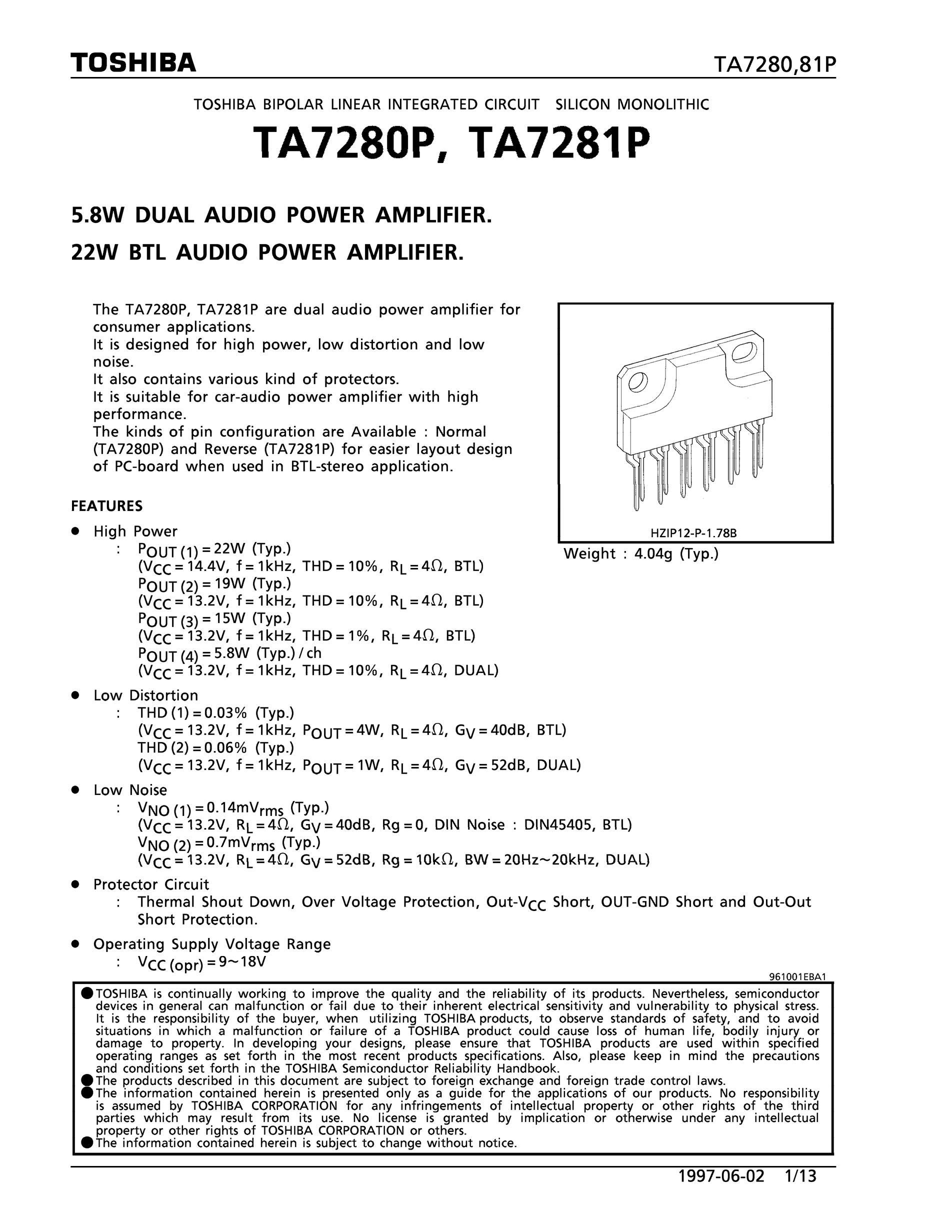 TA7262F's pdf picture 1