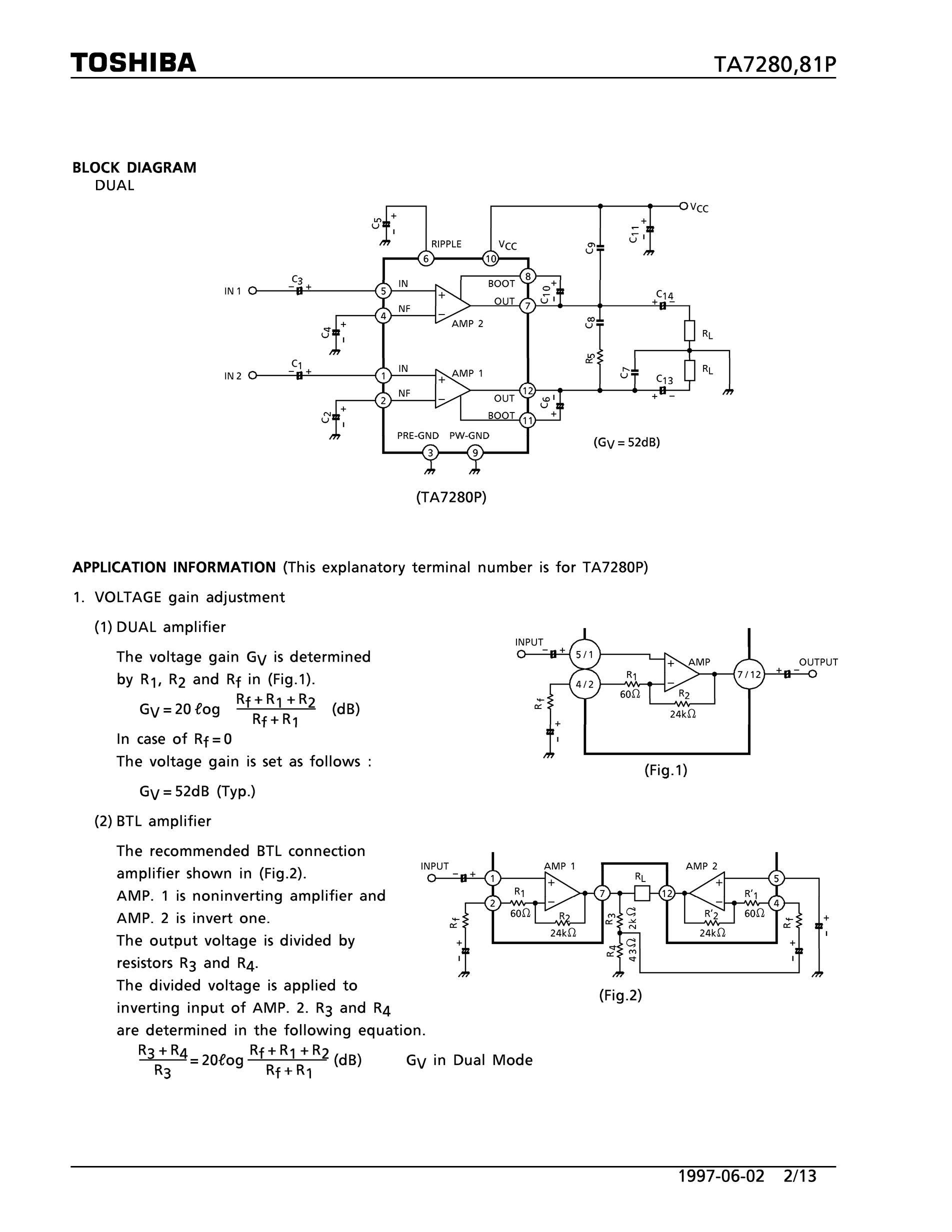 TA7262F's pdf picture 2