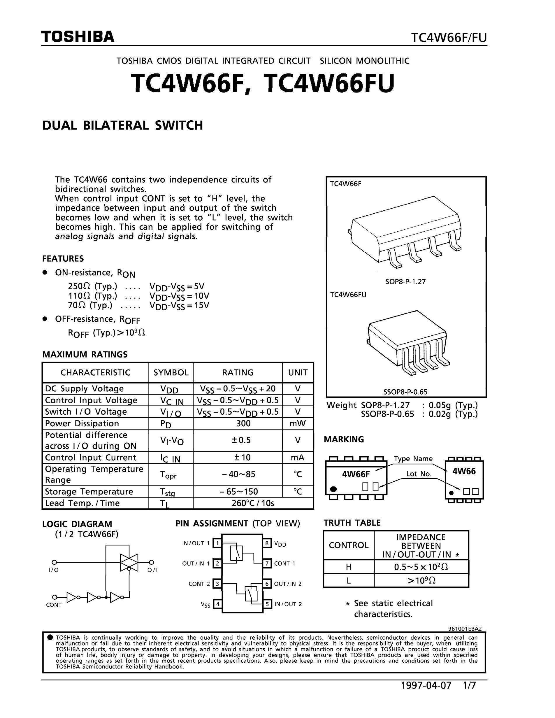 TC4W66AF's pdf picture 1