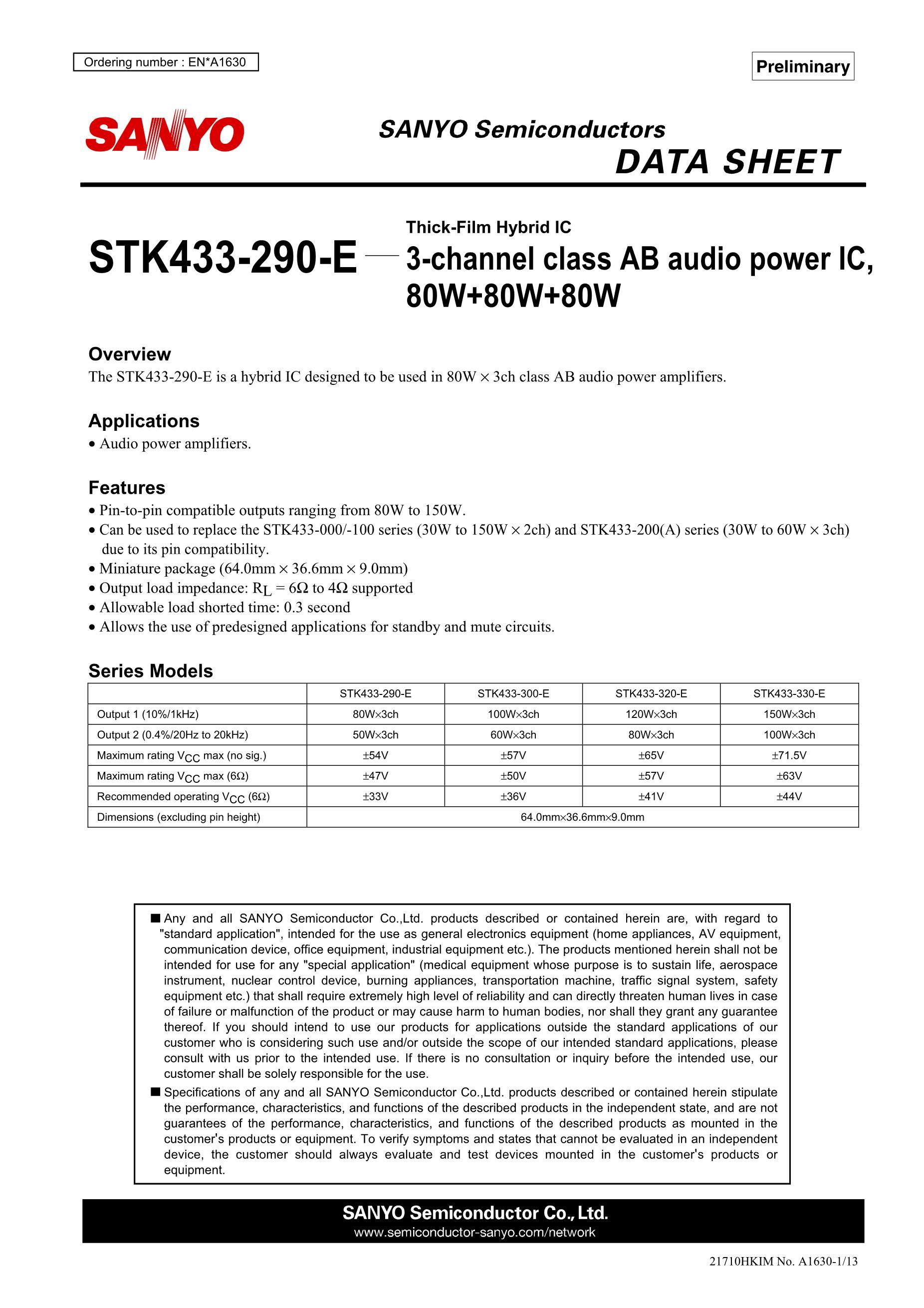 STK4211V's pdf picture 1