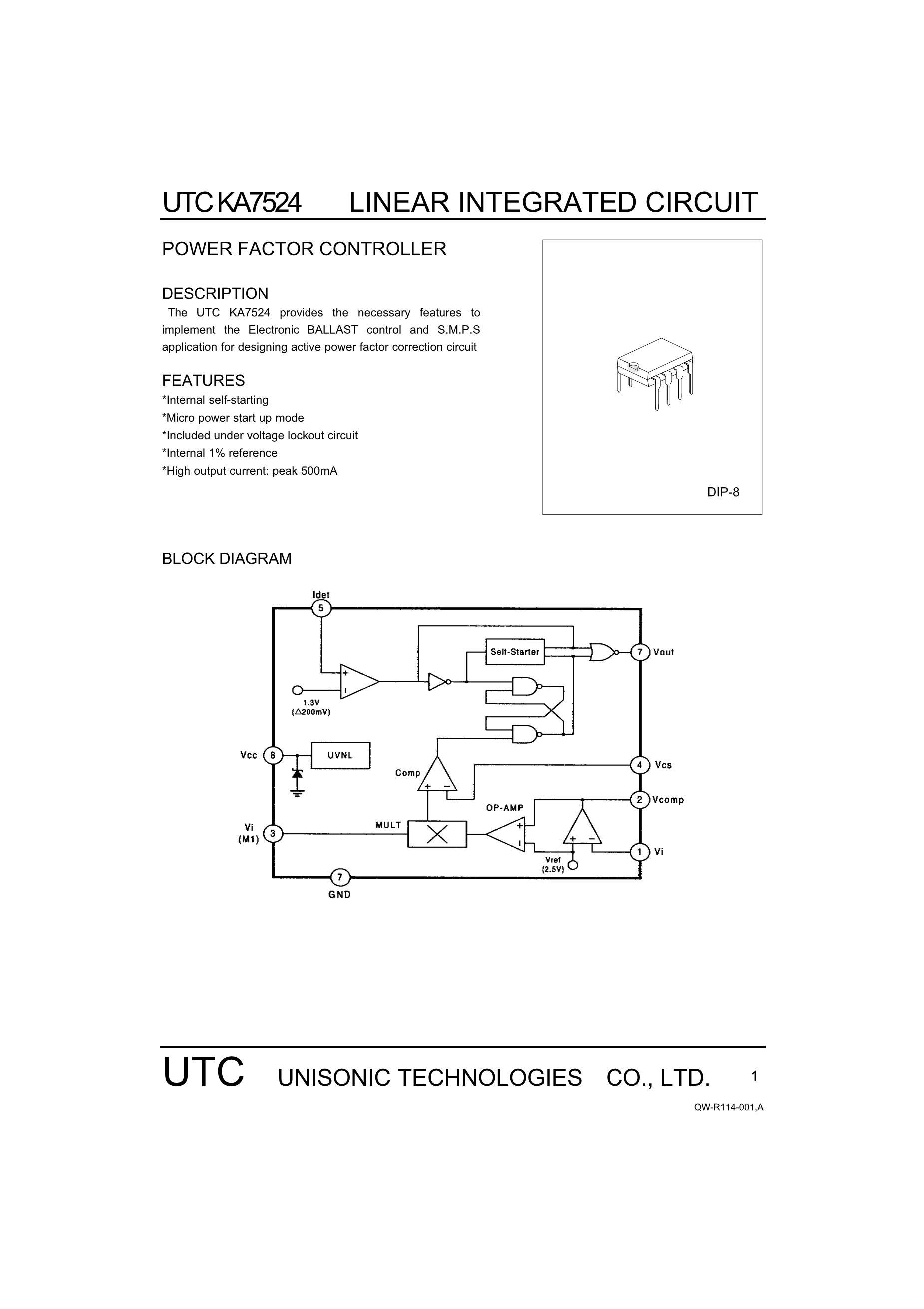 KA7500BS's pdf picture 1